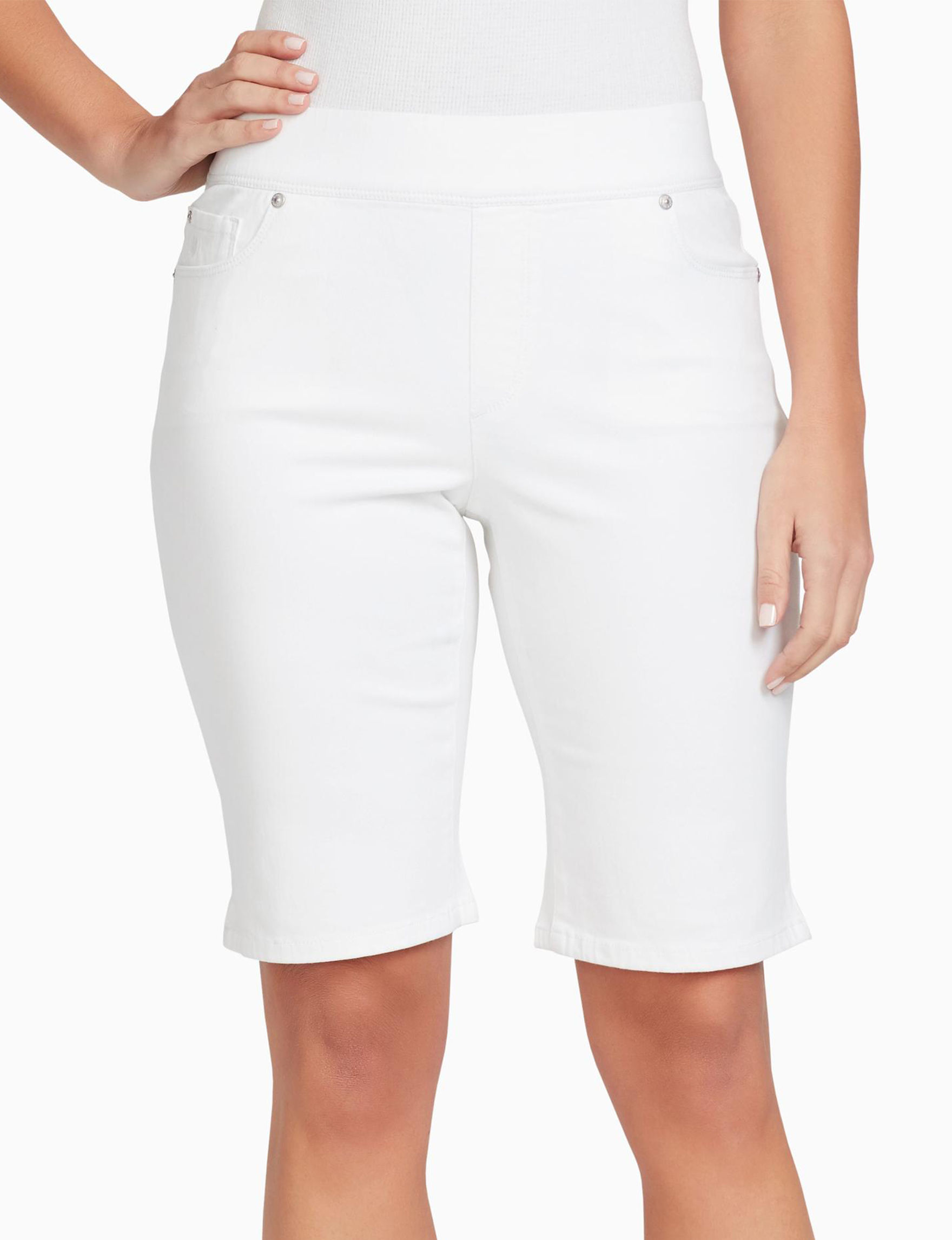 Gloria Vanderbilt White Bermudas Stretch