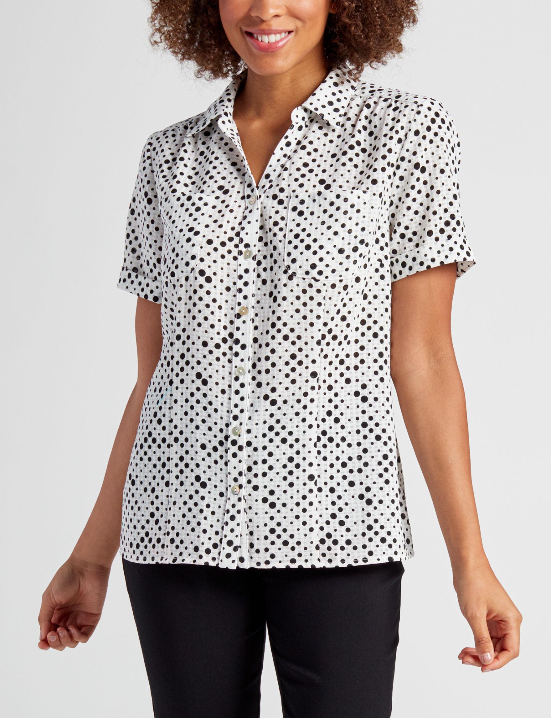 Rebecca Malone Black / Cream Shirts & Blouses