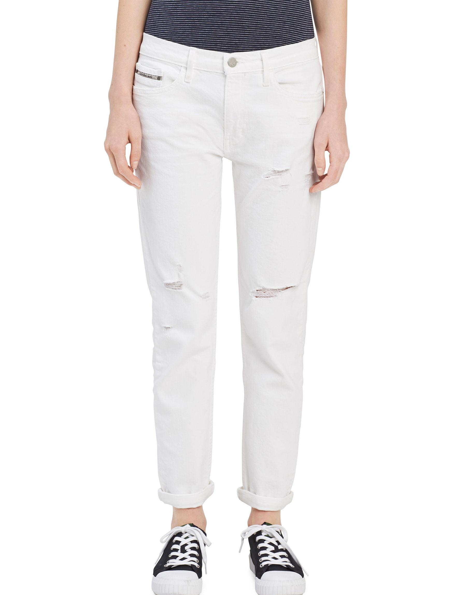 Calvin Klein Jeans White Boyfriend Regular