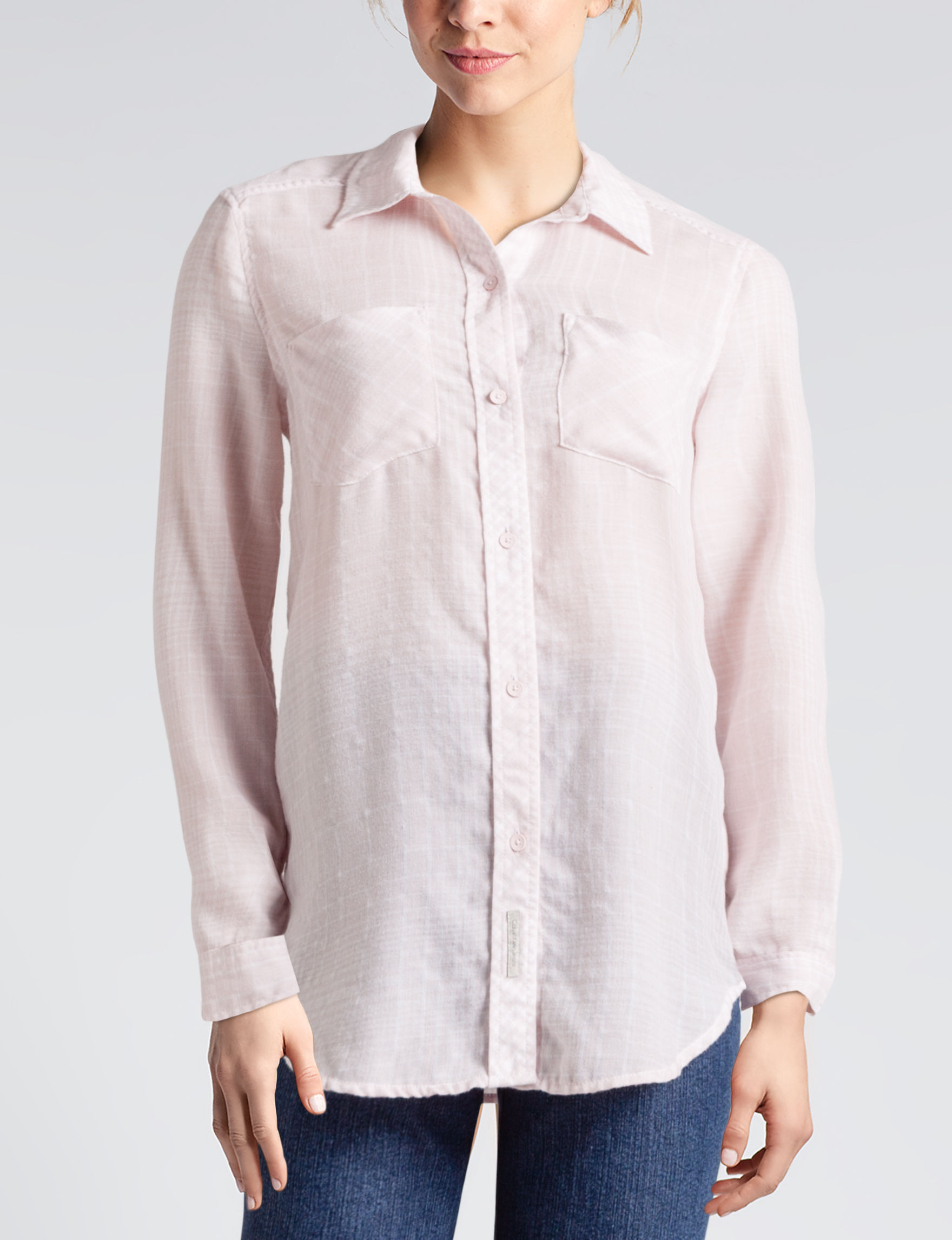 Calvin Klein Jeans Pink Shirts & Blouses