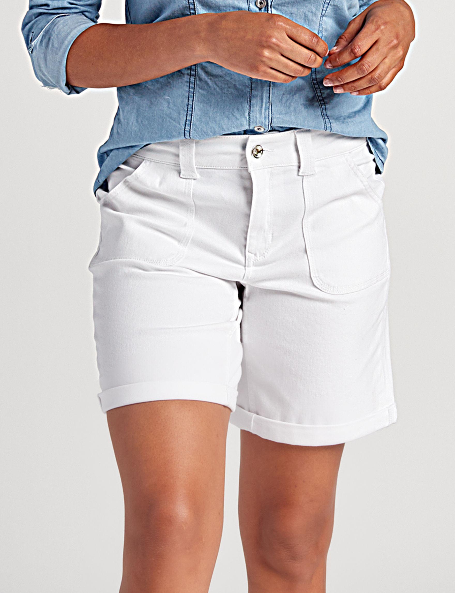 Hannah White Tailored Shorts