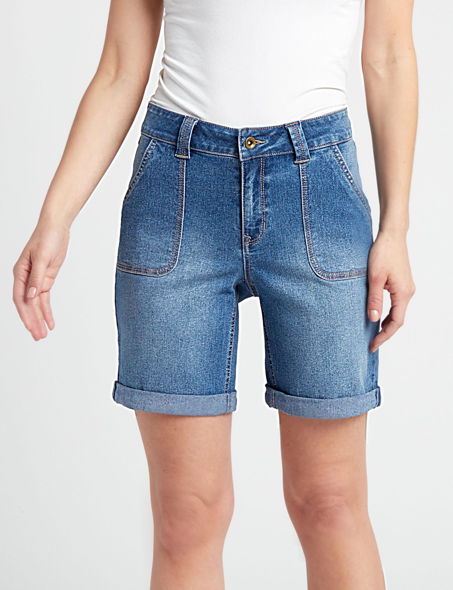 Hannah Indigo Denim Shorts