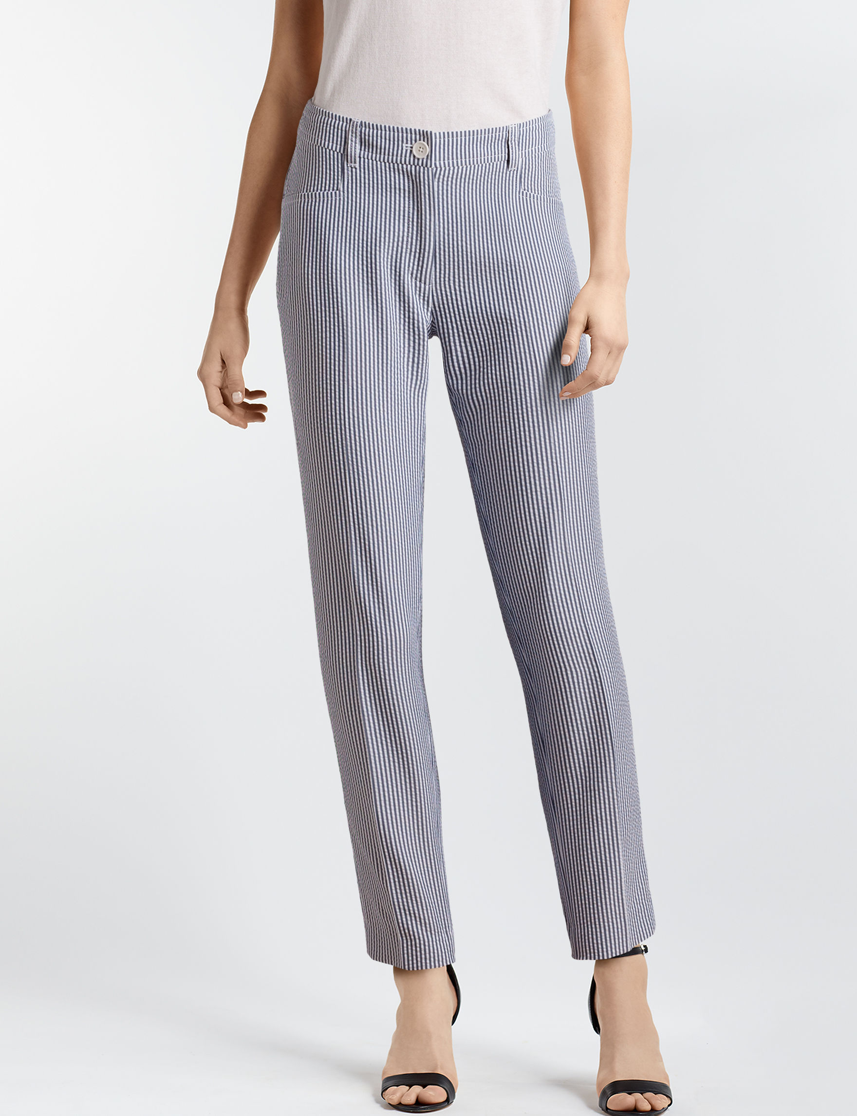 Anne Klein White / Navy Soft Pants