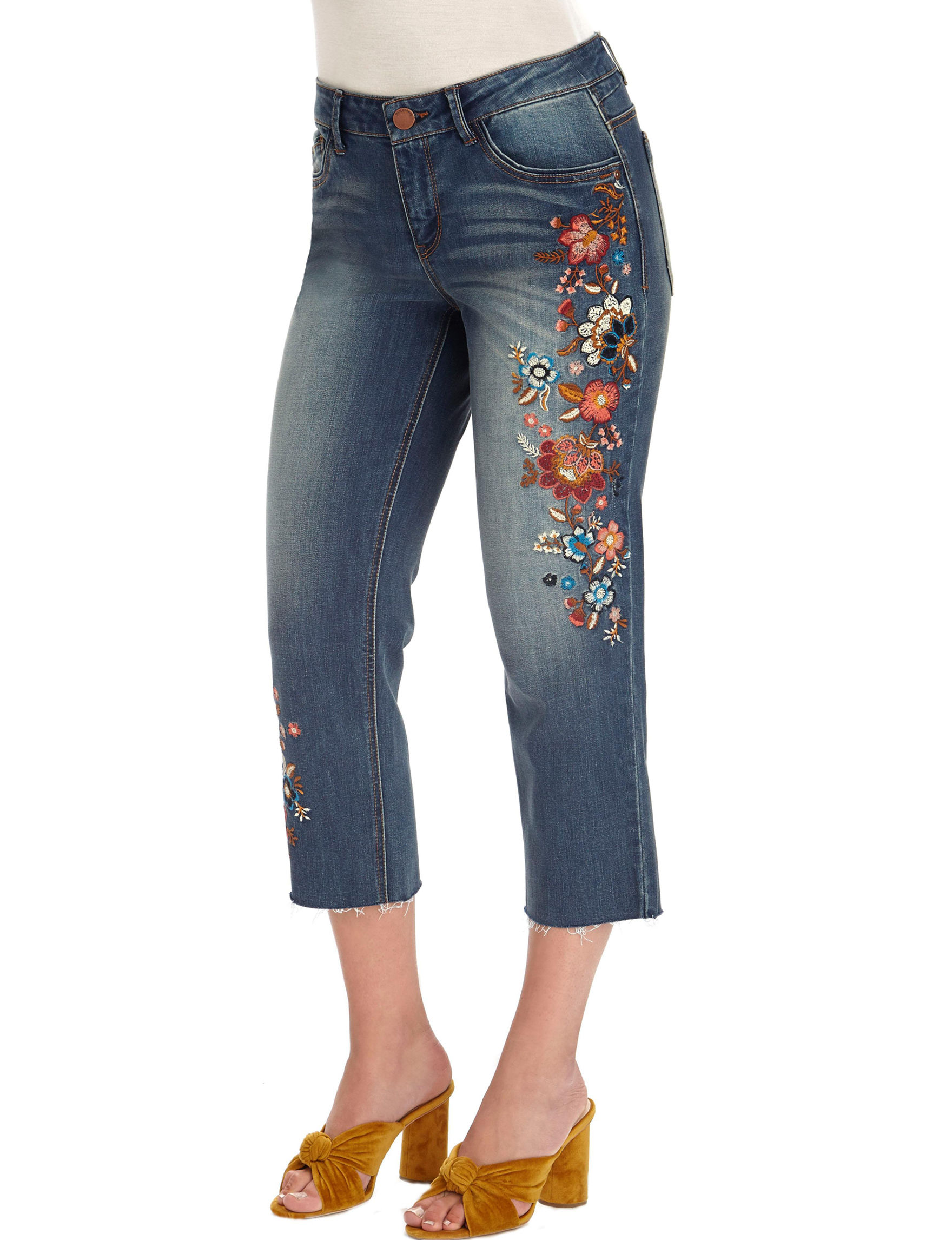 Democracy Blue Capris & Crops Relaxed