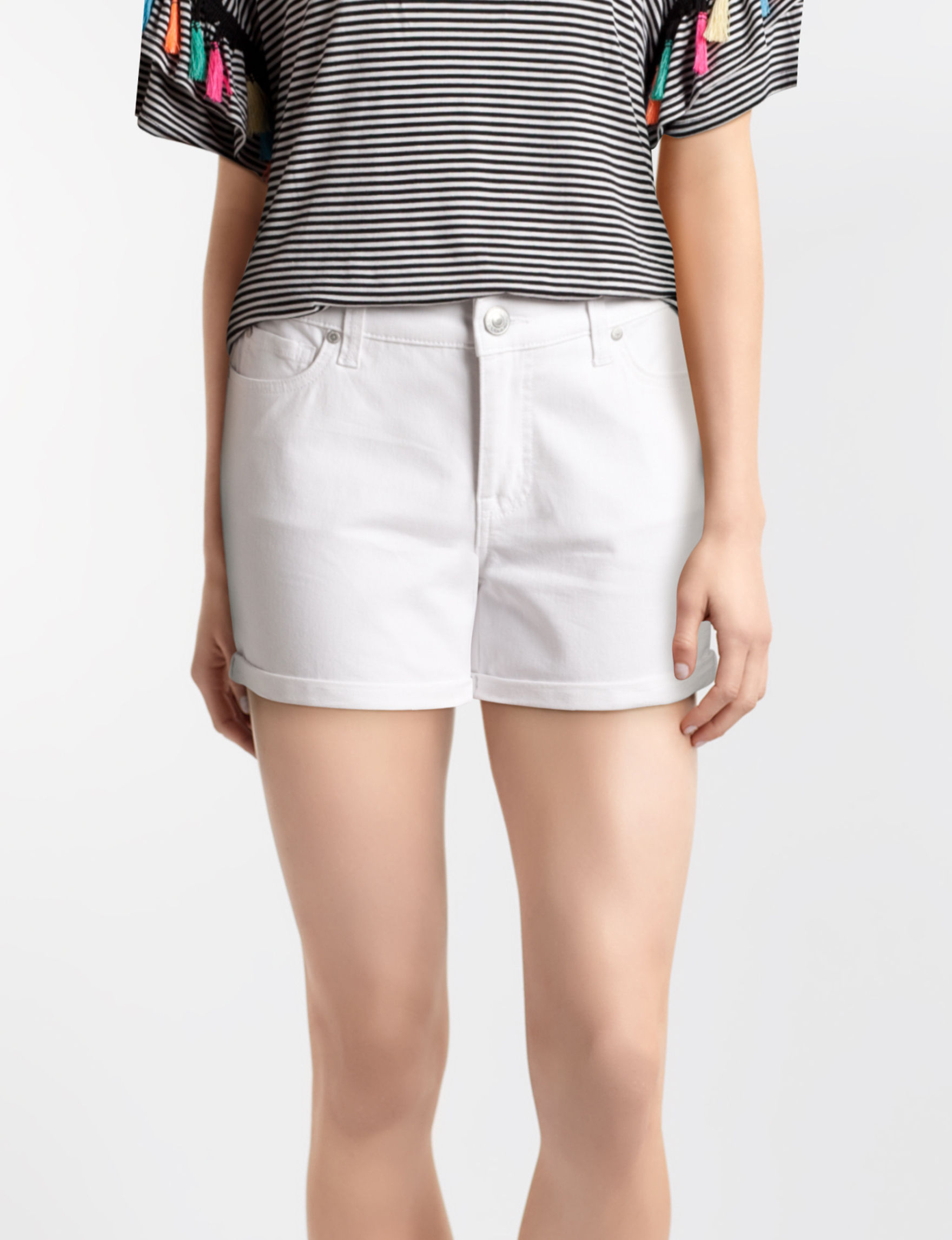 Hannah White Denim Shorts
