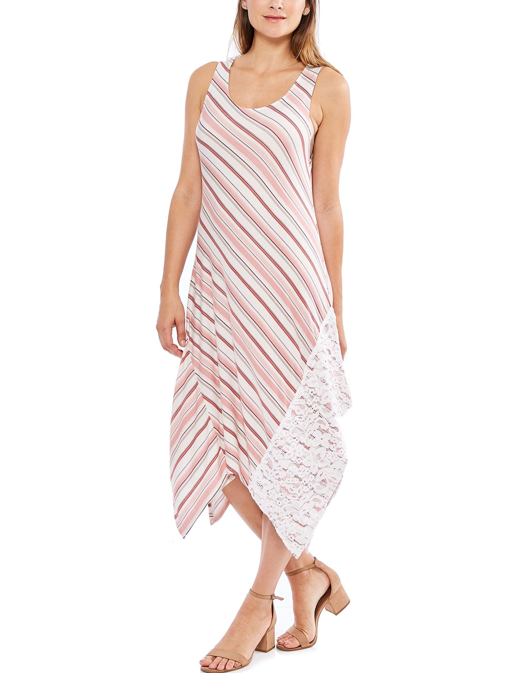 Skyes The Limit Red Stripe Everyday & Casual Shift Dresses Sundresses