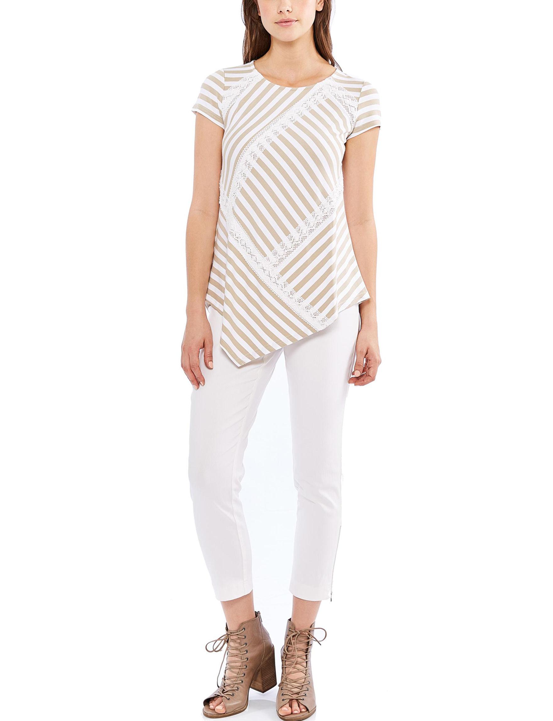 Skyes The Limit Tan / White Shirts & Blouses