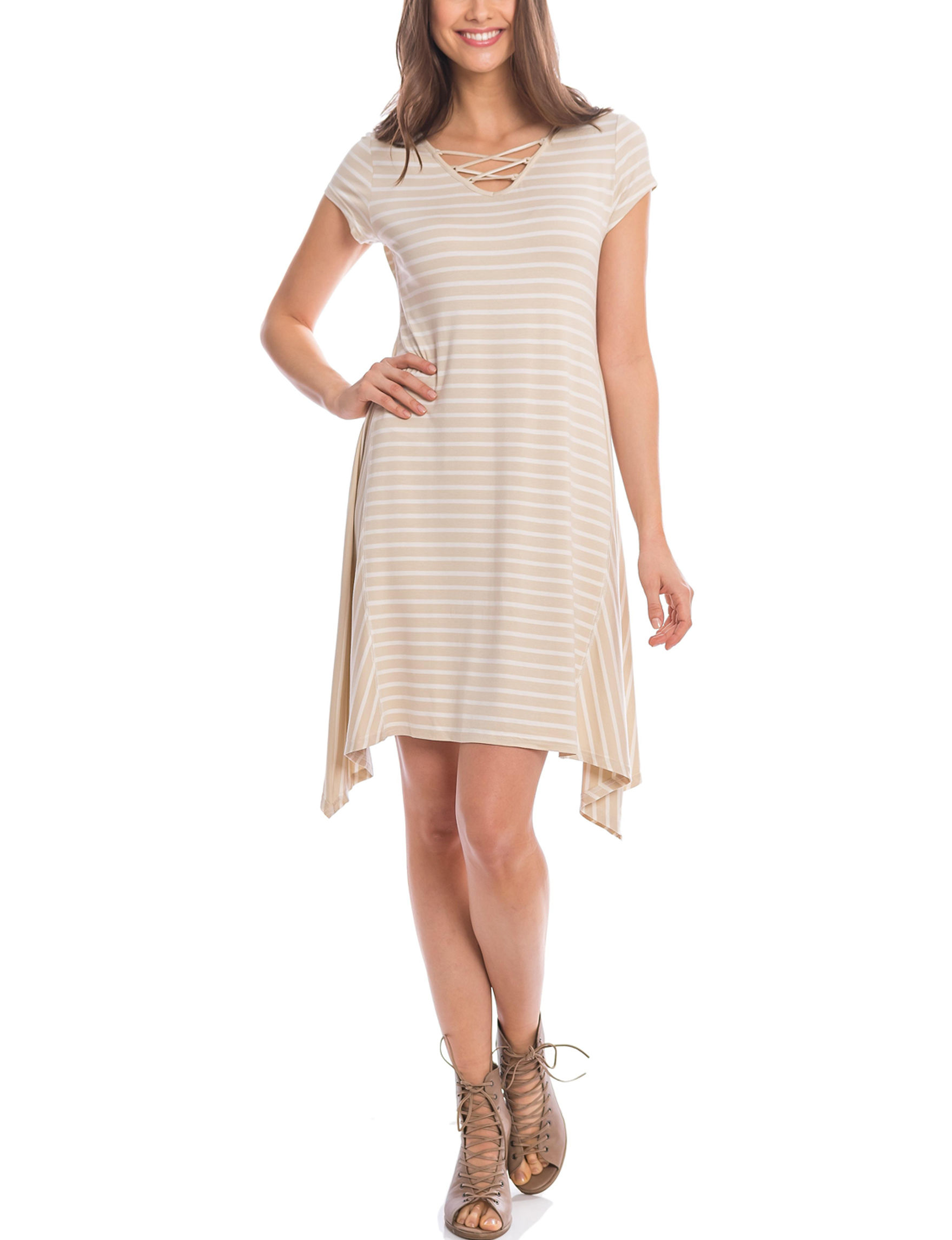 Skyes The Limit Tan Everyday & Casual Shift Dresses