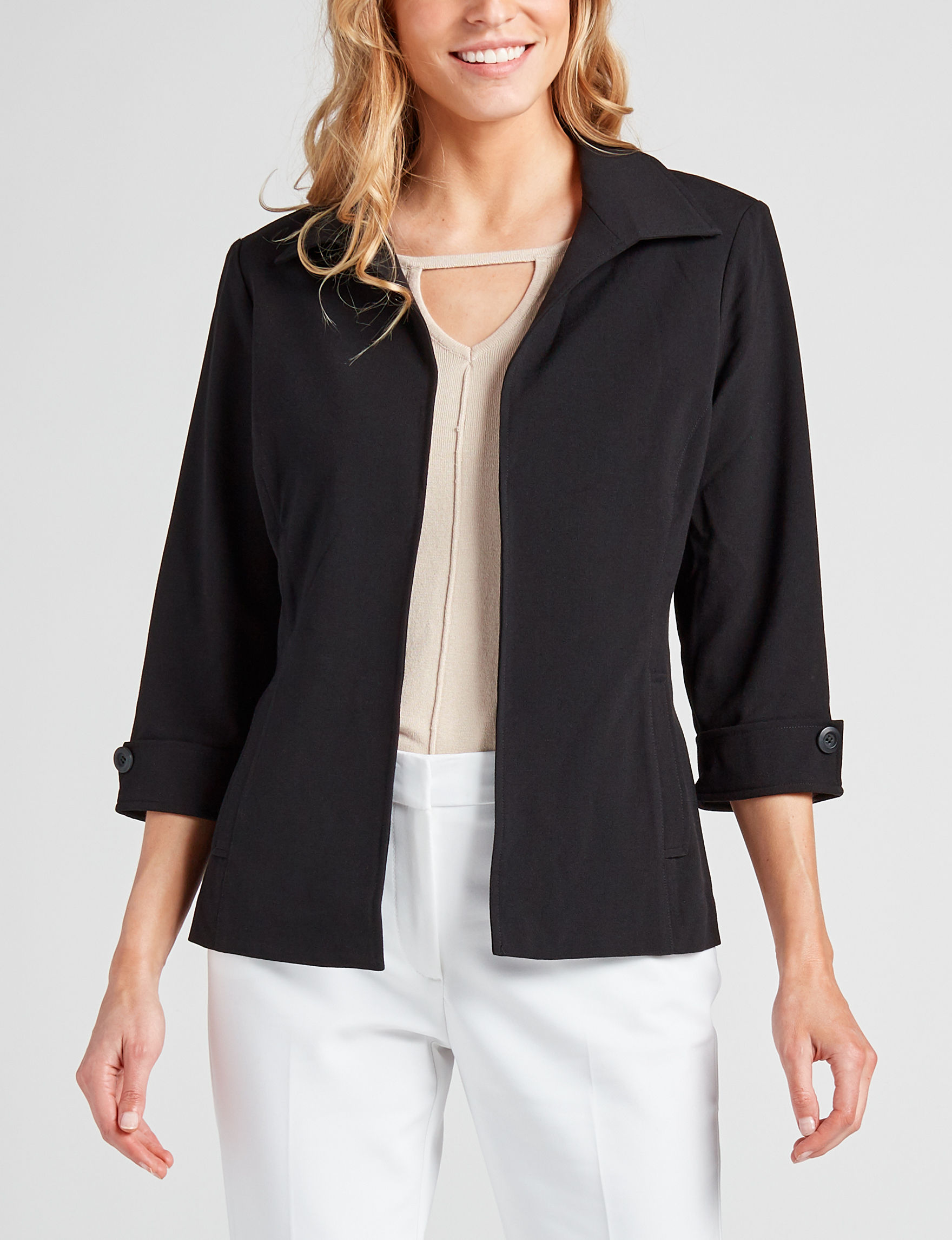 Valerie Stevens Black Lightweight Jackets & Blazers