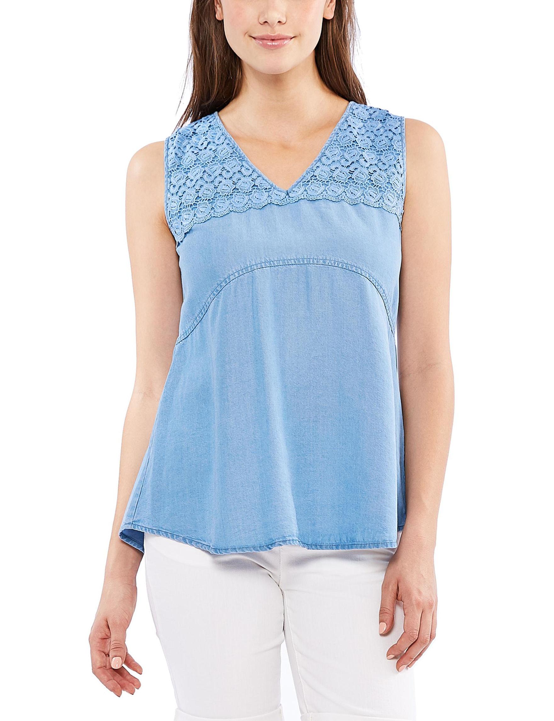 Skyes The Limit Denim Blue Shirts & Blouses