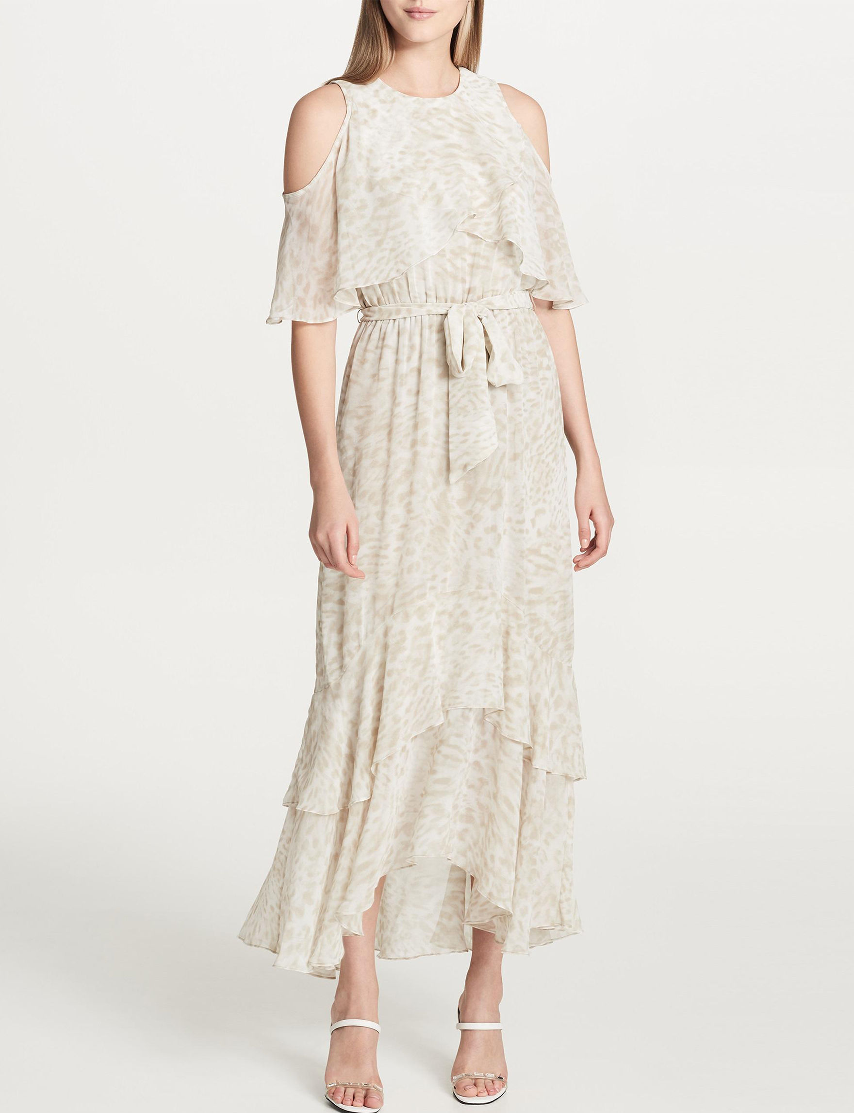 Calvin Klein Beige Everyday & Casual Fit & Flare Dresses