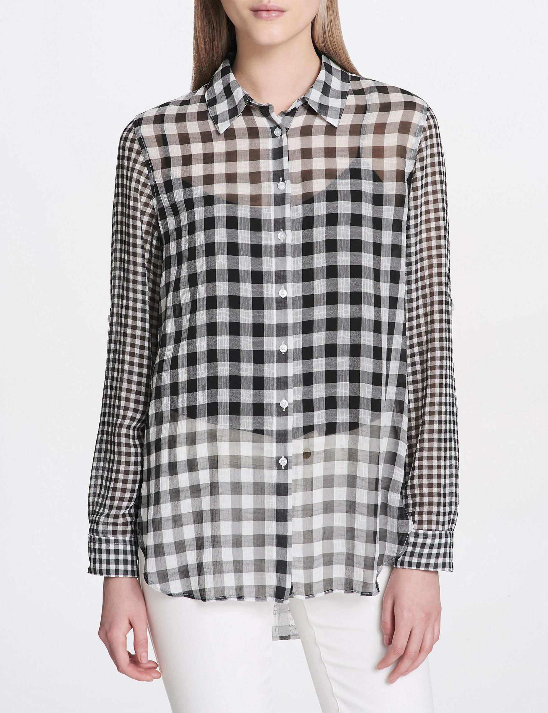 Calvin Klein Black / White Shirts & Blouses