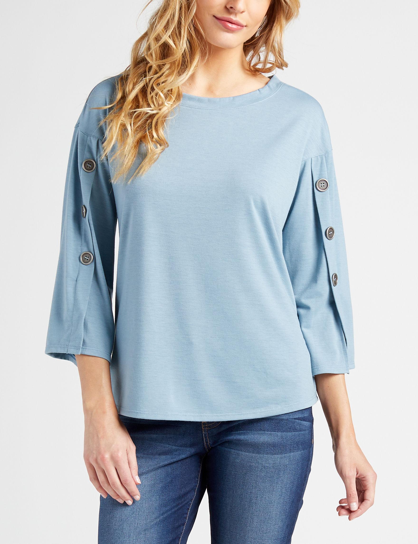 Hannah Light Blue Shirts & Blouses