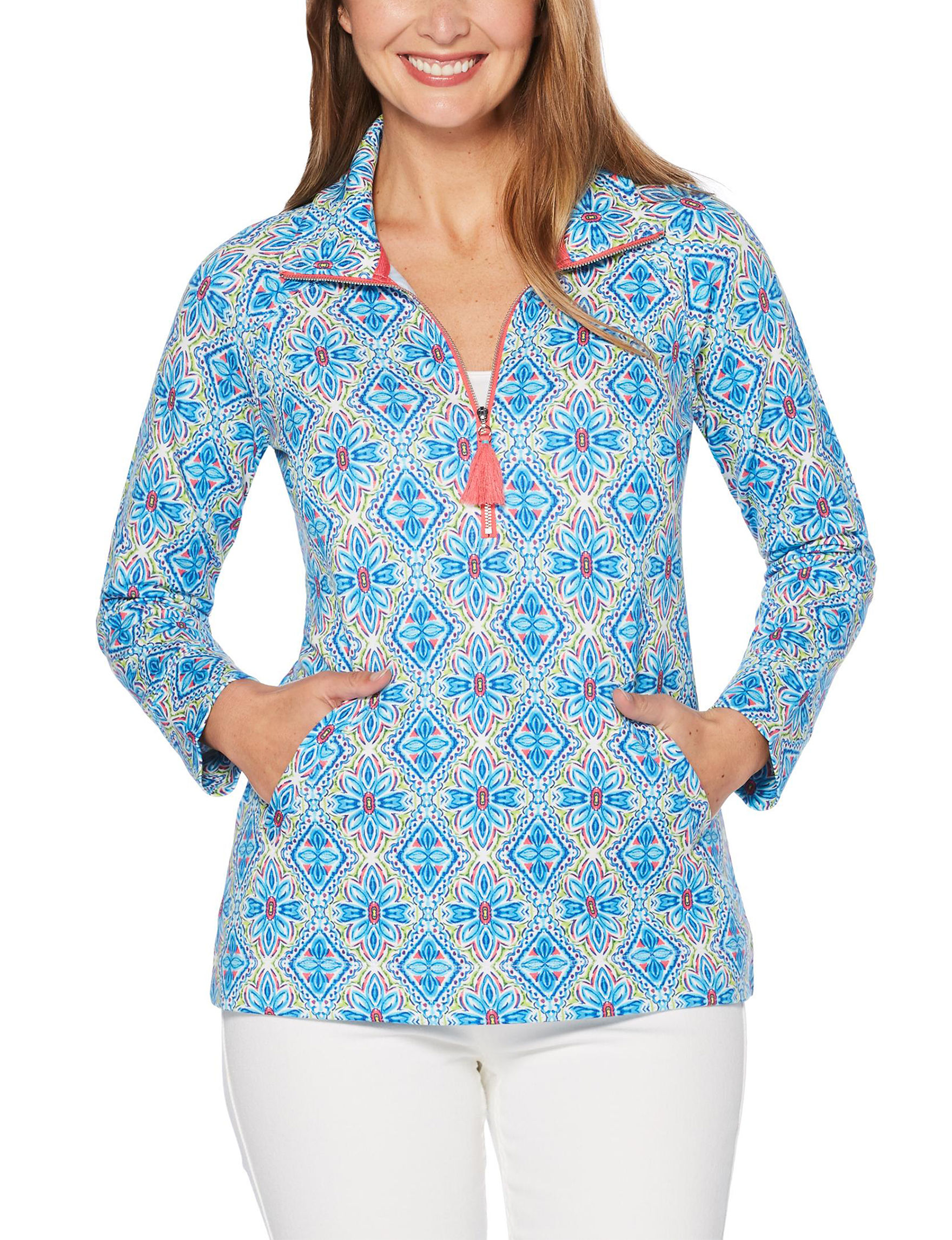 Rafaella Blue / Multi Pull-overs Shirts & Blouses