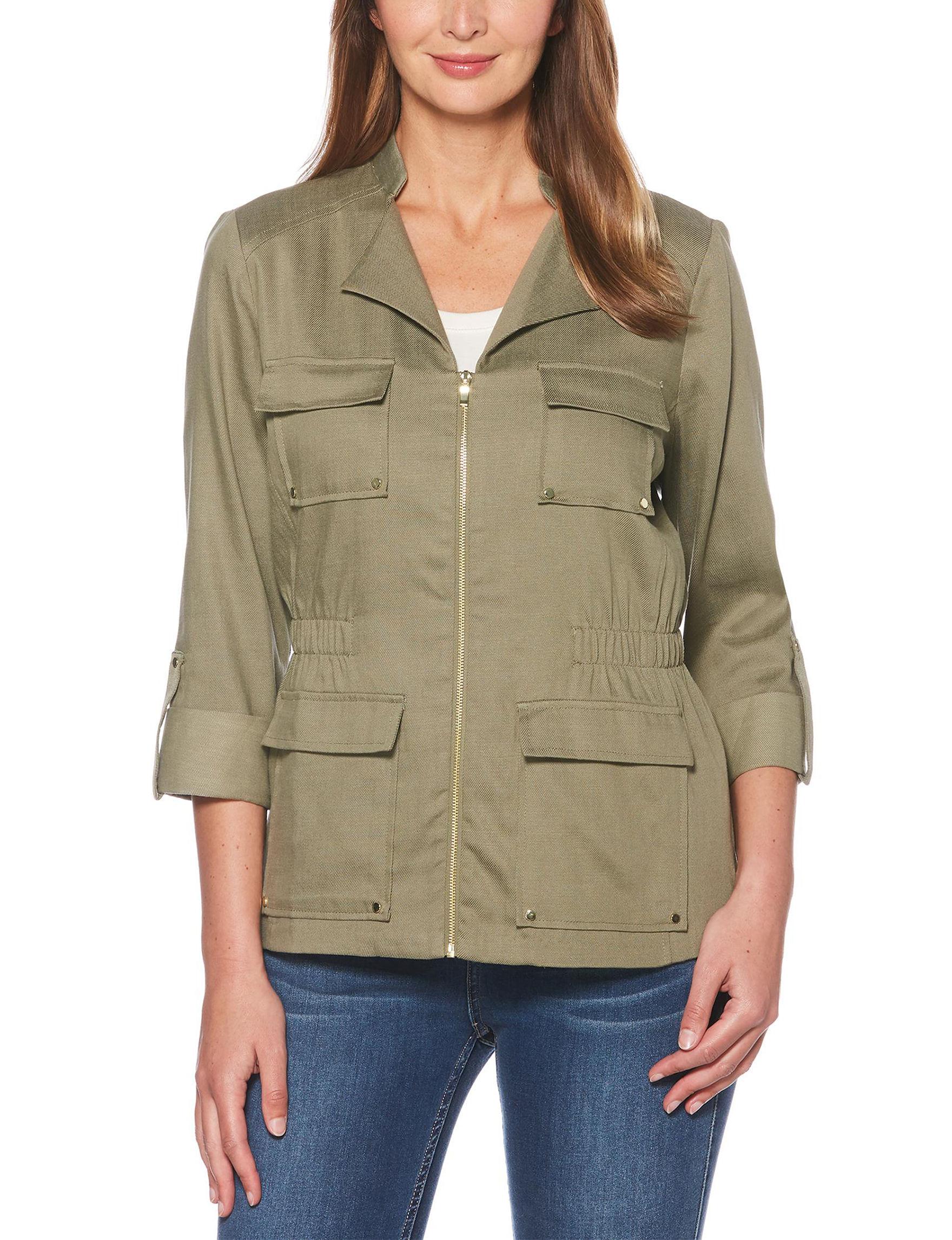 Rafaella Olive Green Lightweight Jackets & Blazers