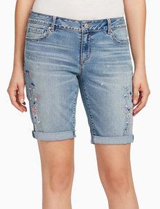 Vintage America Blues Blue Bermudas Denim Shorts