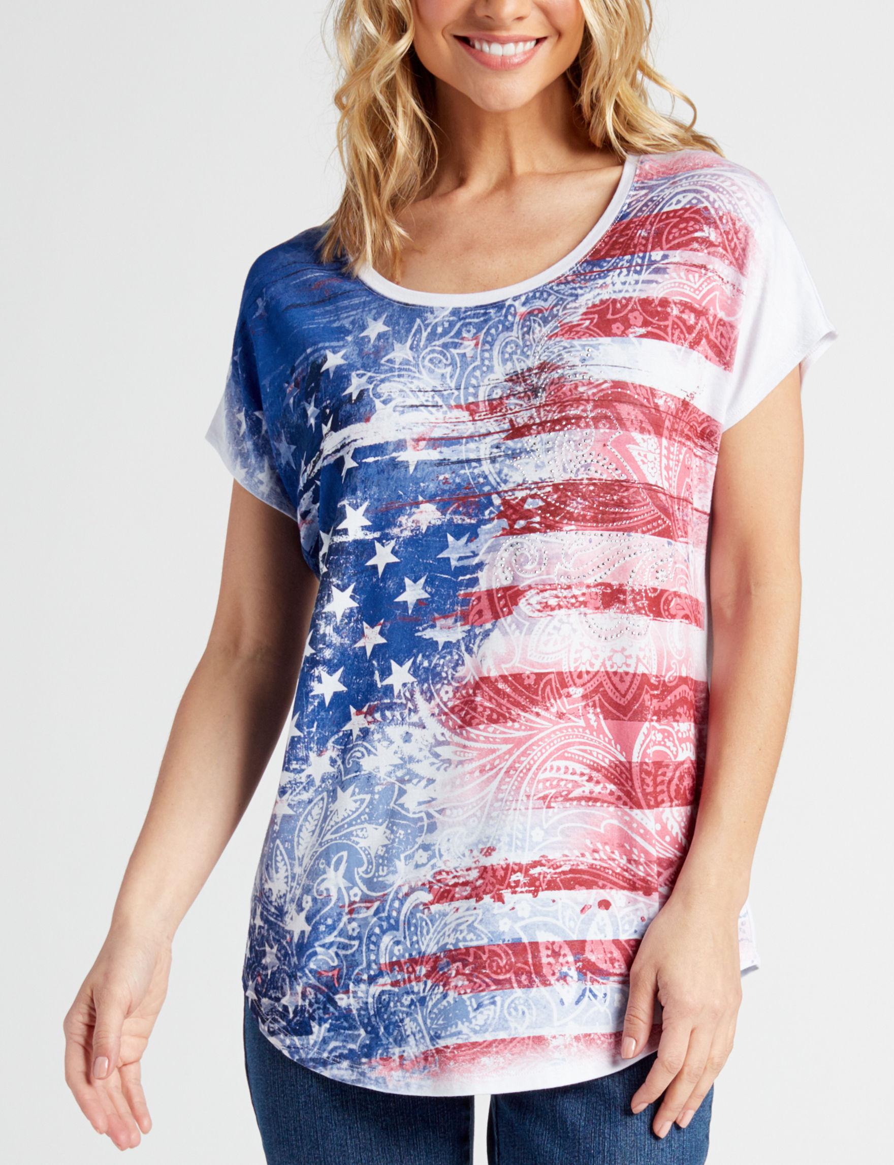 Rebecca Malone Blue / Multi Shirts & Blouses