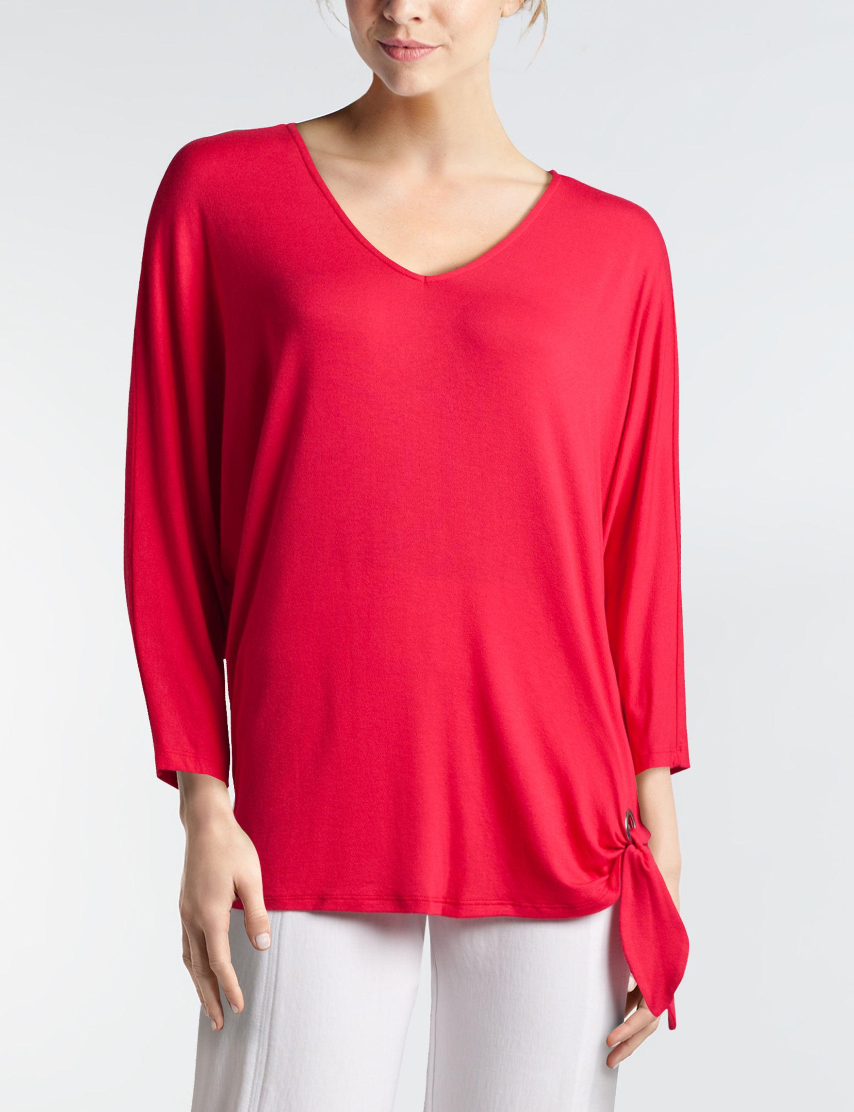 John Paul Richard Red Shirts & Blouses