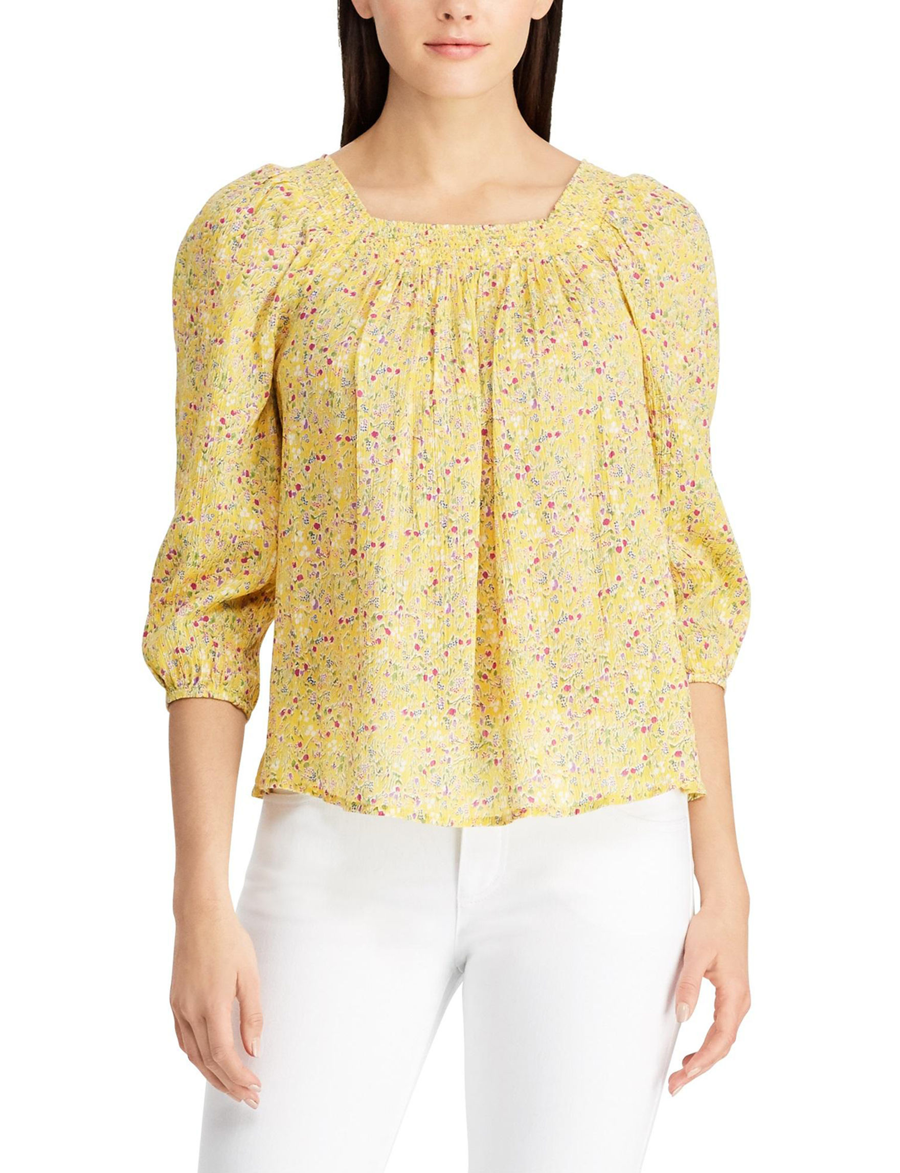 Chaps Yellow Shirts & Blouses