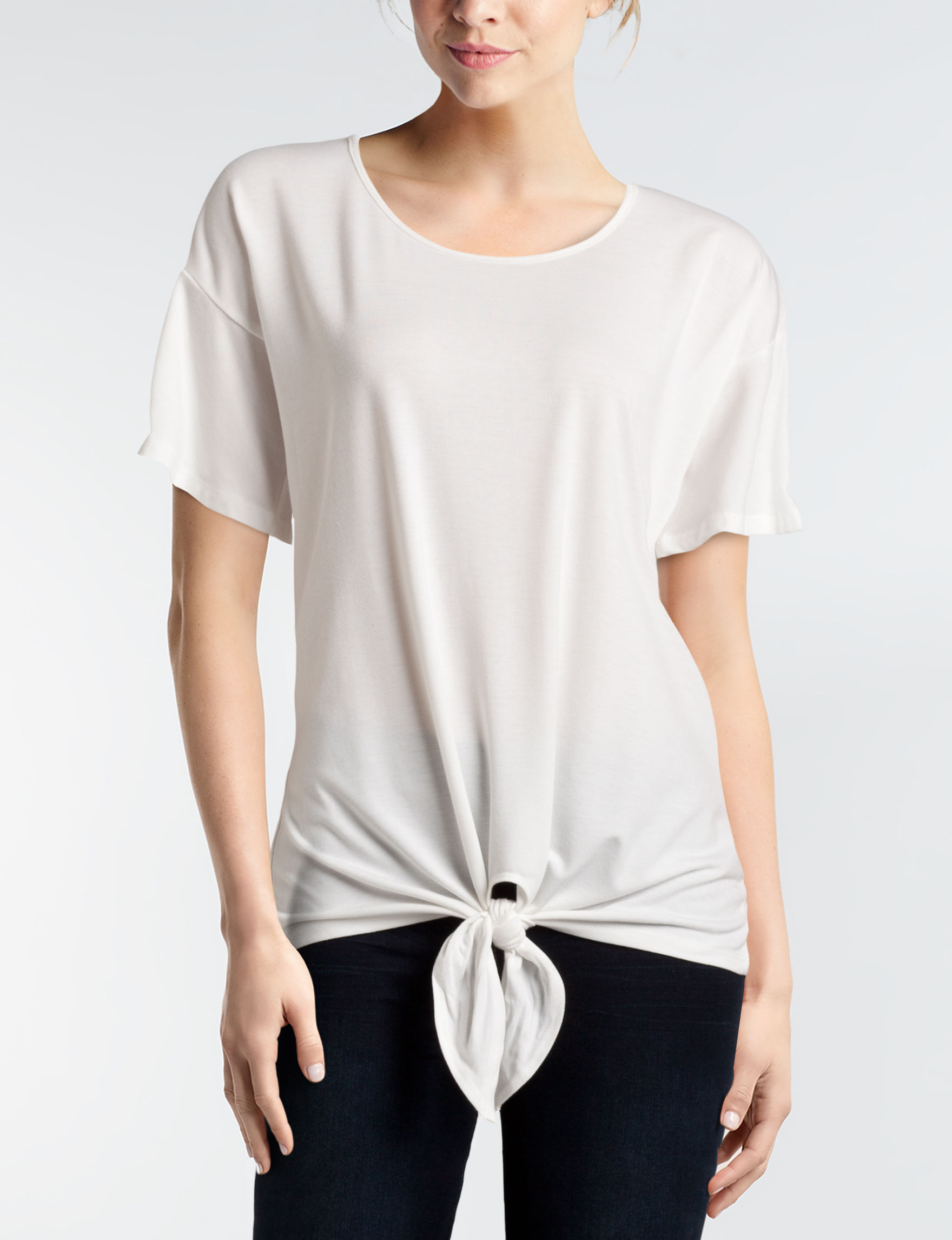 NY Collection Ivory Shirts & Blouses