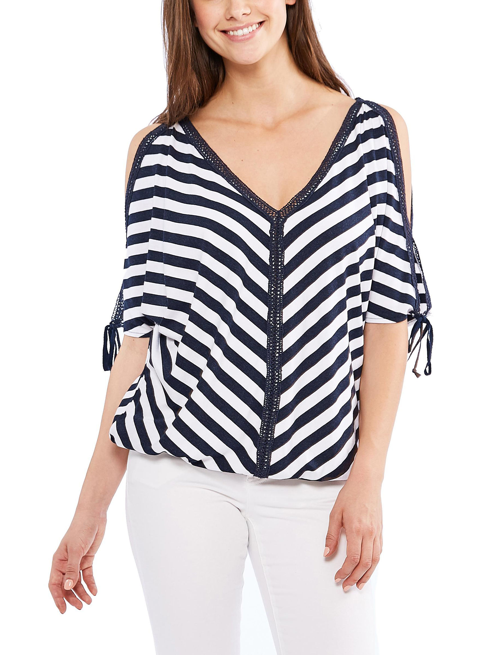 Skyes The Limit Navy / White Shirts & Blouses