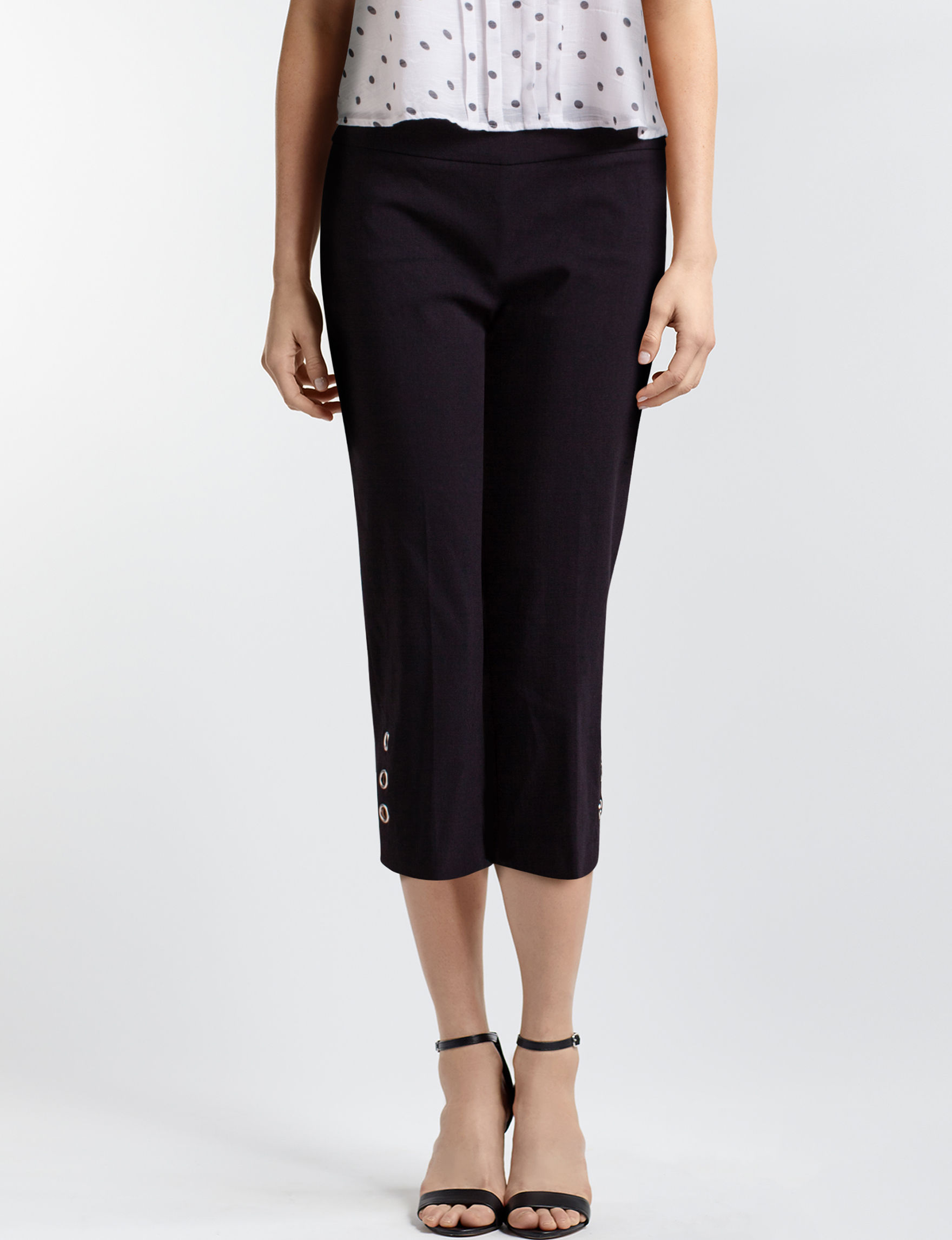 Zac & Rachel Black Capris & Crops Stretch