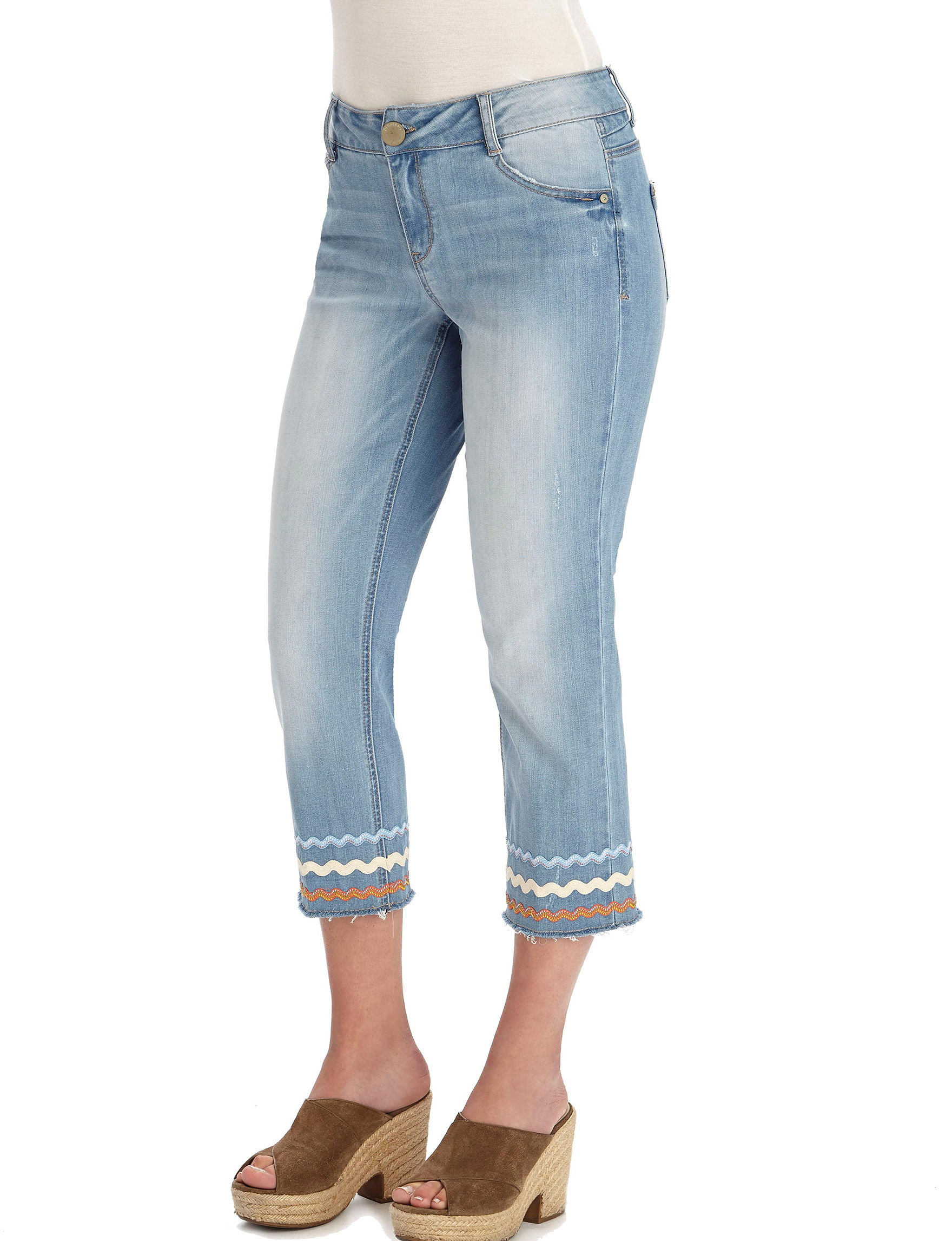 Democracy Light Blue Capris & Crops Relaxed