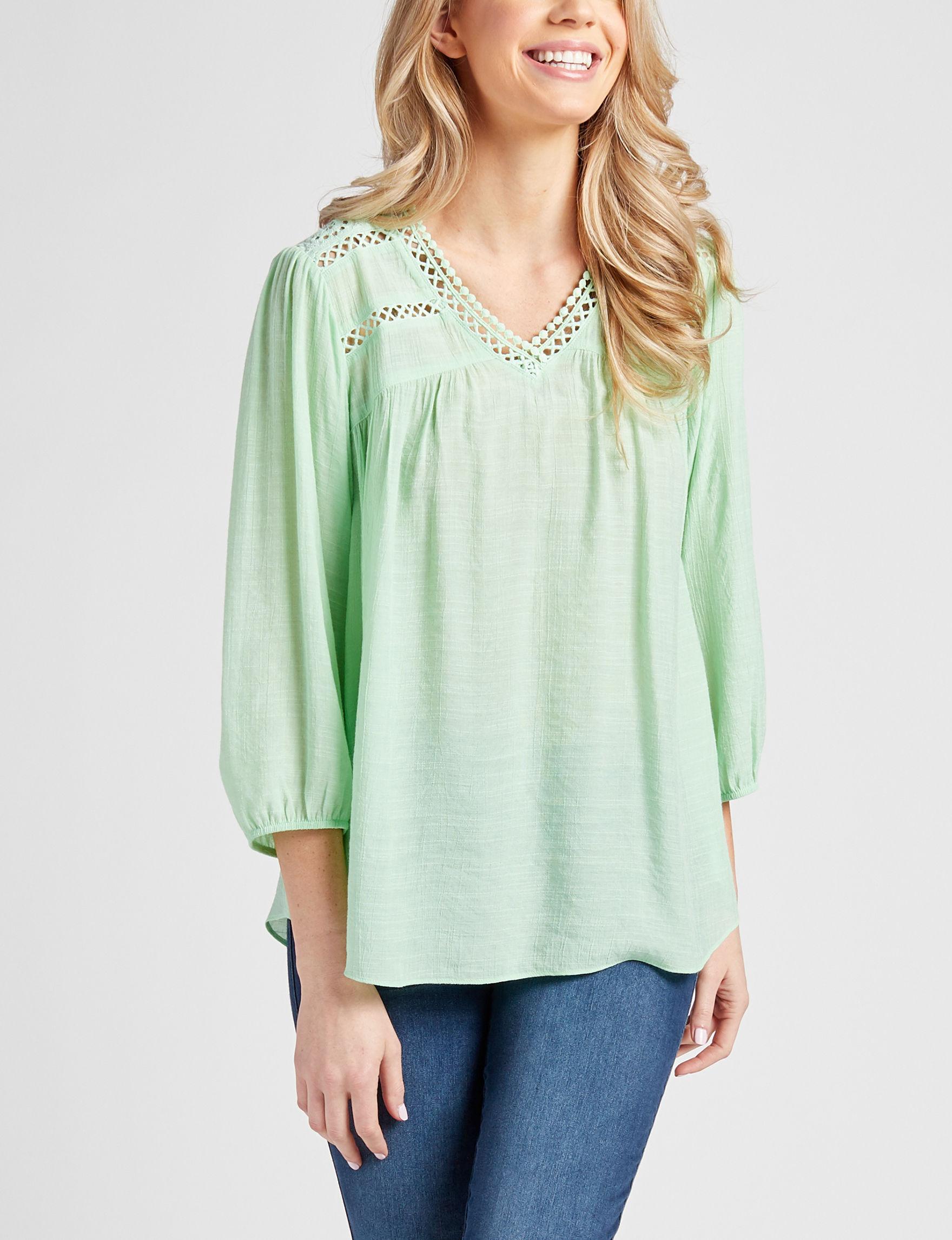 Hannah Mint Shirts & Blouses