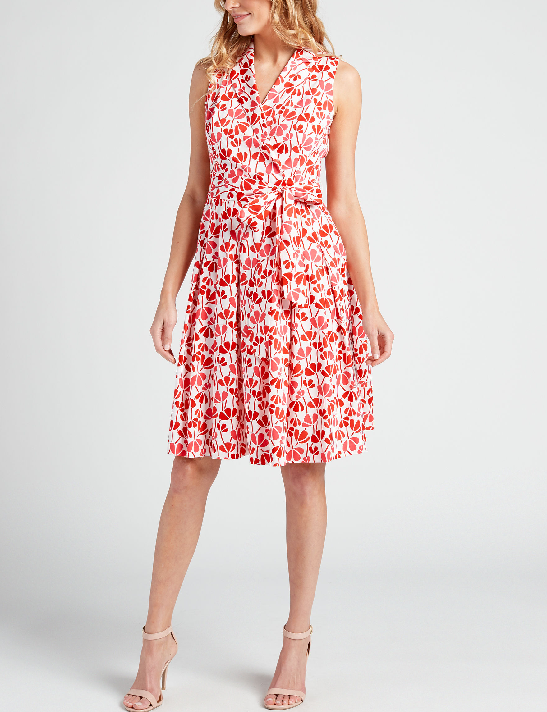 Anne Klein Red Everyday & Casual Fit & Flare Dresses