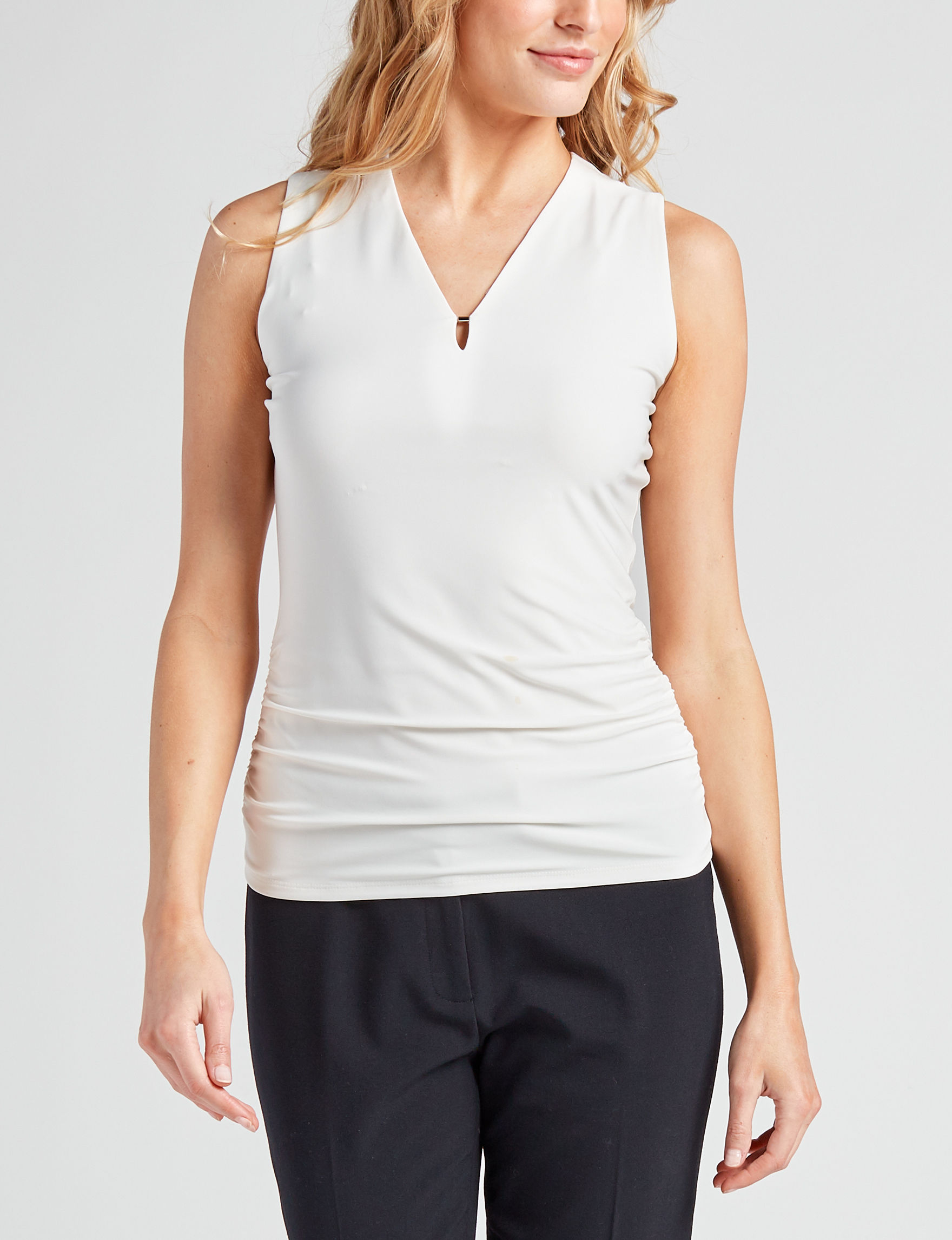 Anne Klein White Shirts & Blouses Tees & Tanks
