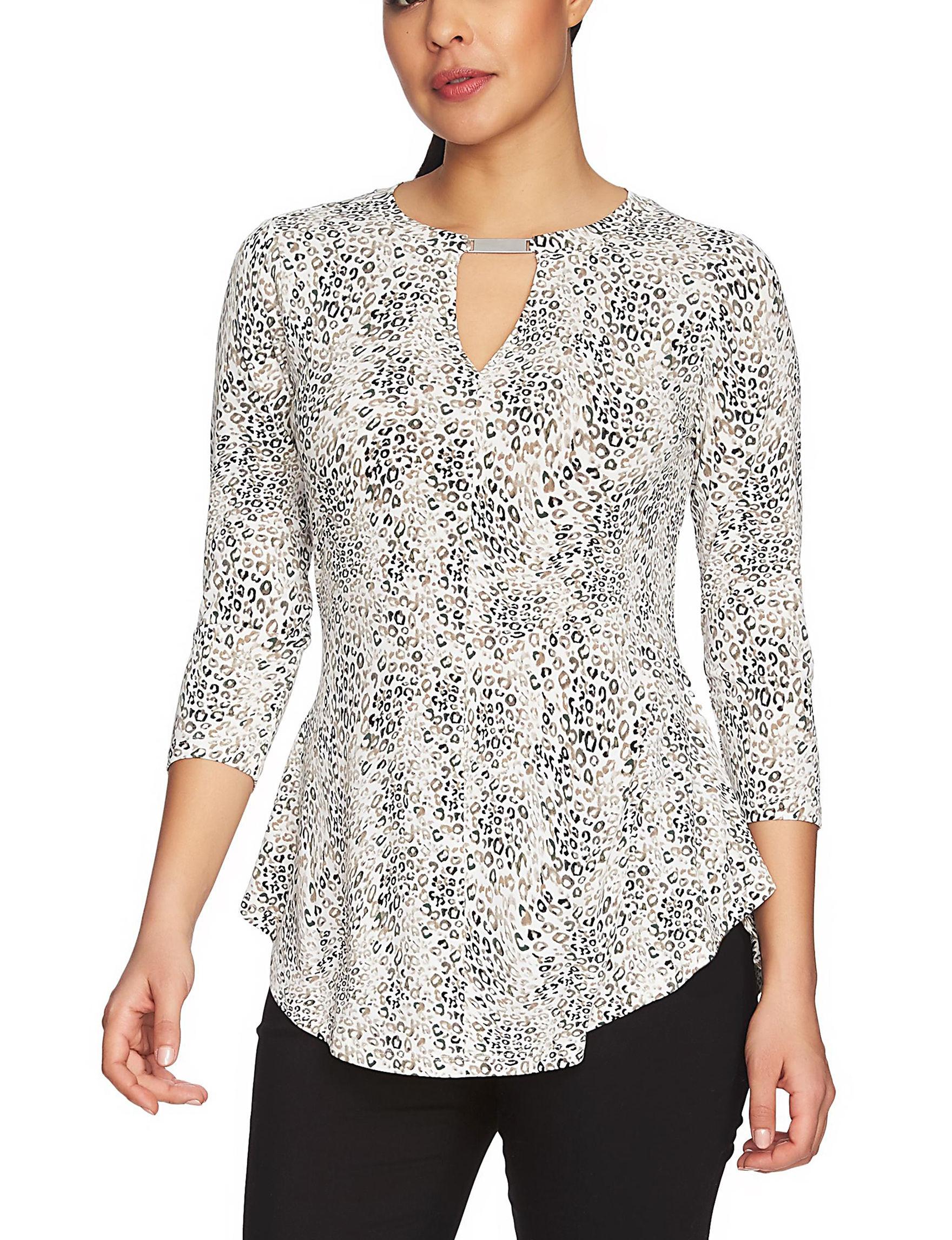 Chaus White / Multi Shirts & Blouses