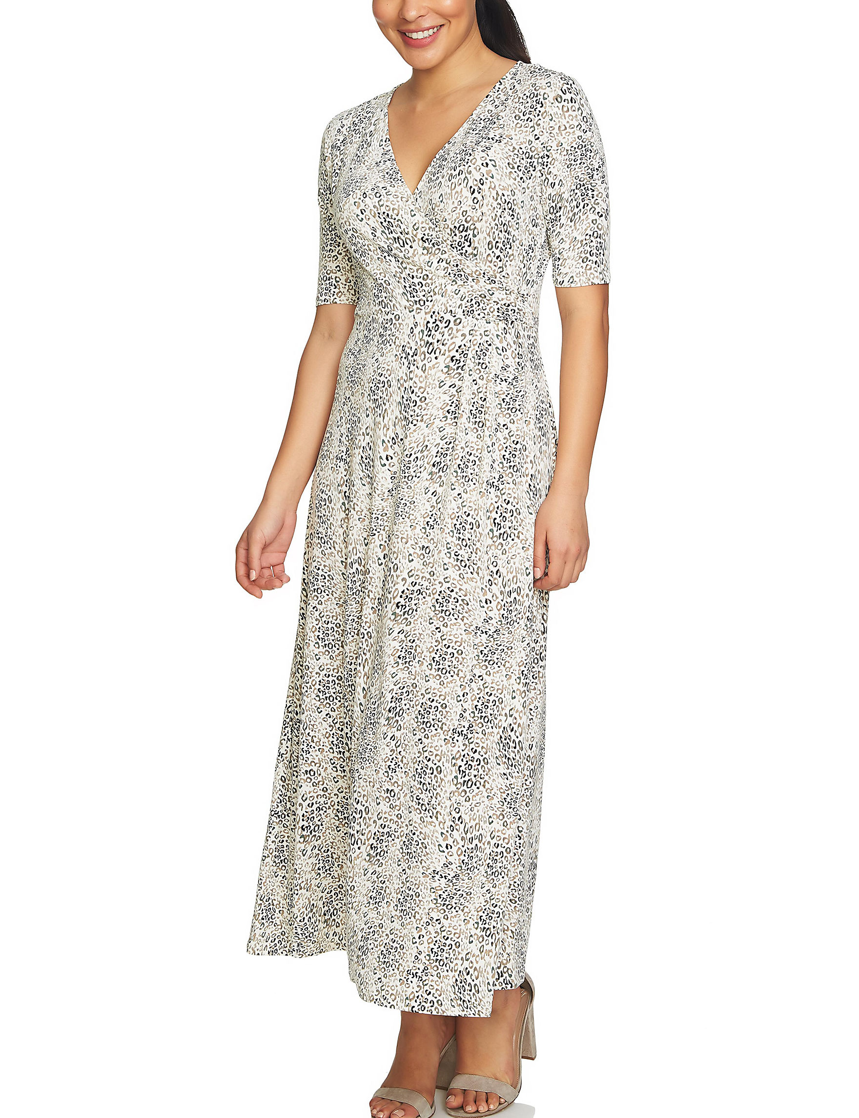 Chaus White / Multi Everyday & Casual Fit & Flare Dresses Sundresses
