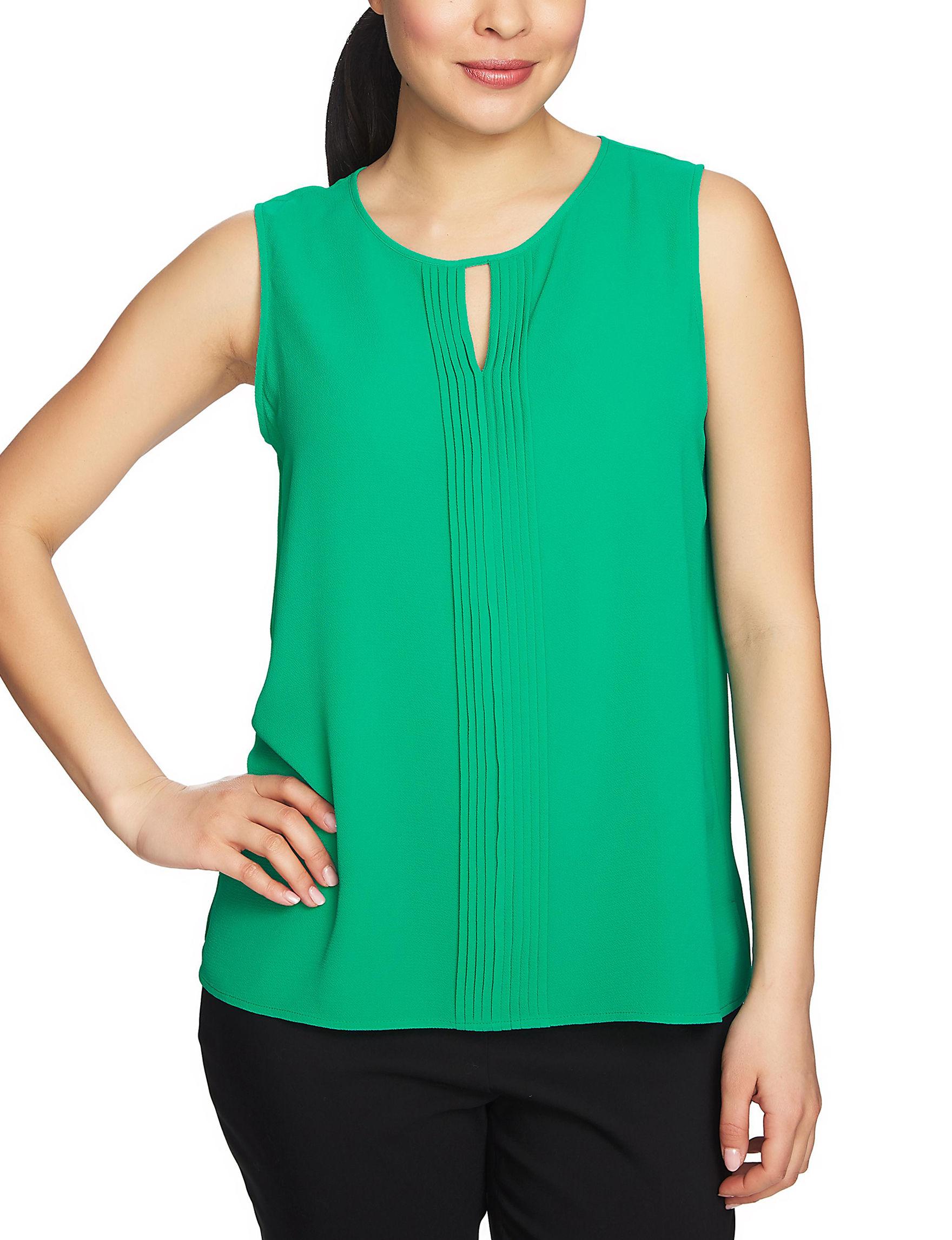Chaus Green Shirts & Blouses