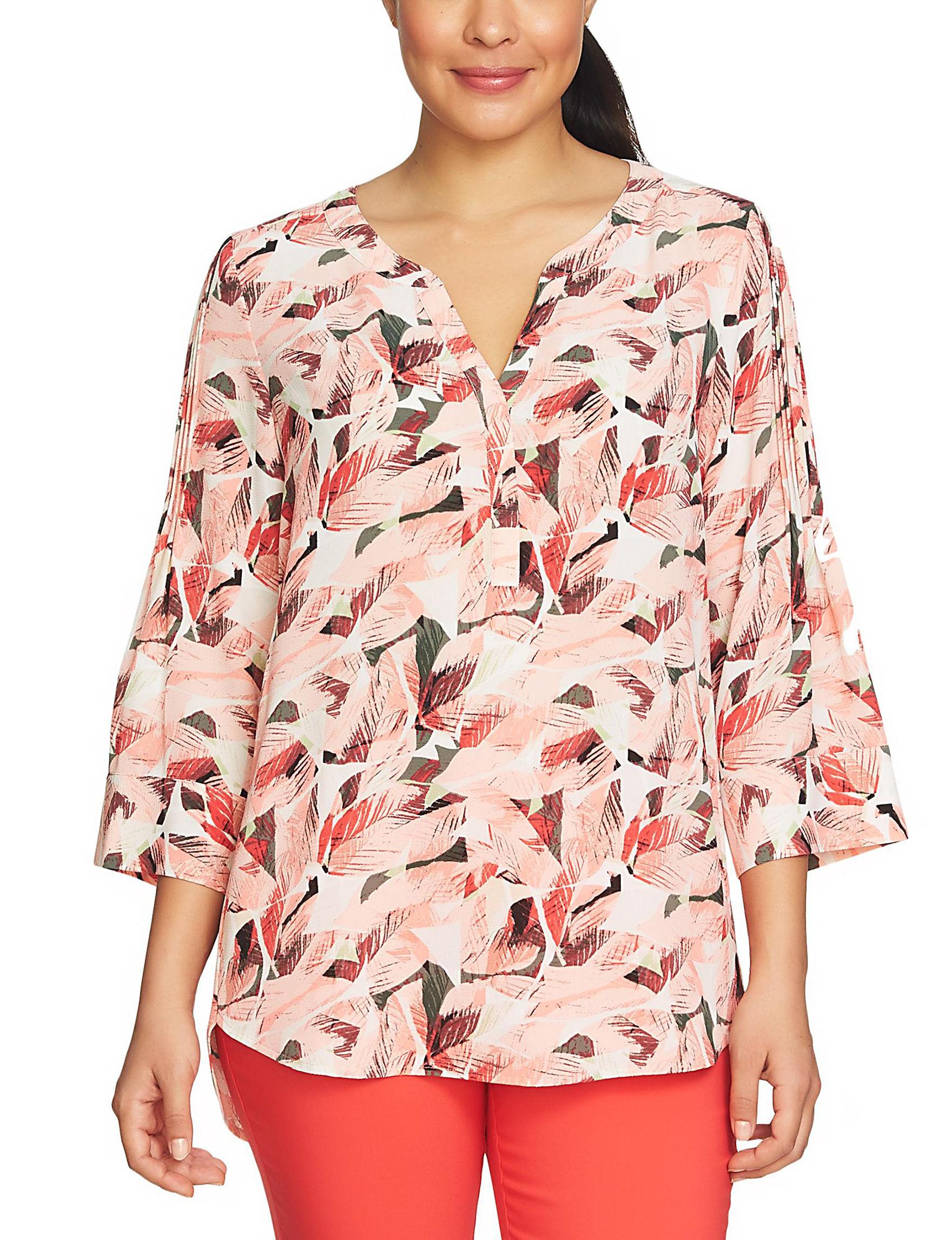 Chaus Peach Shirts & Blouses