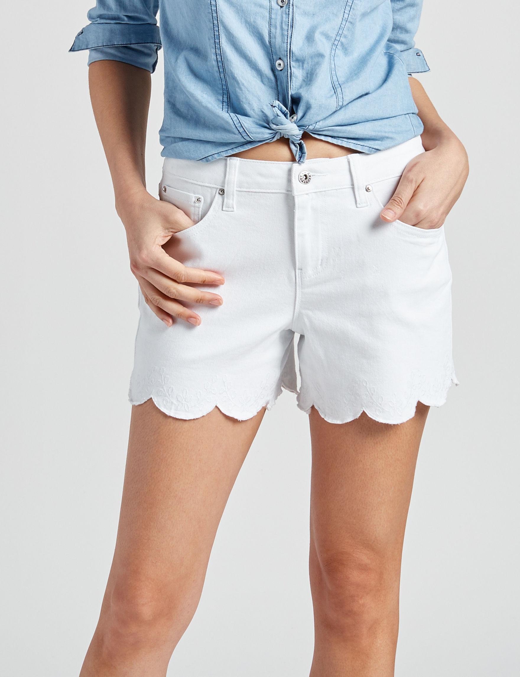 Earl Jean White Denim Shorts