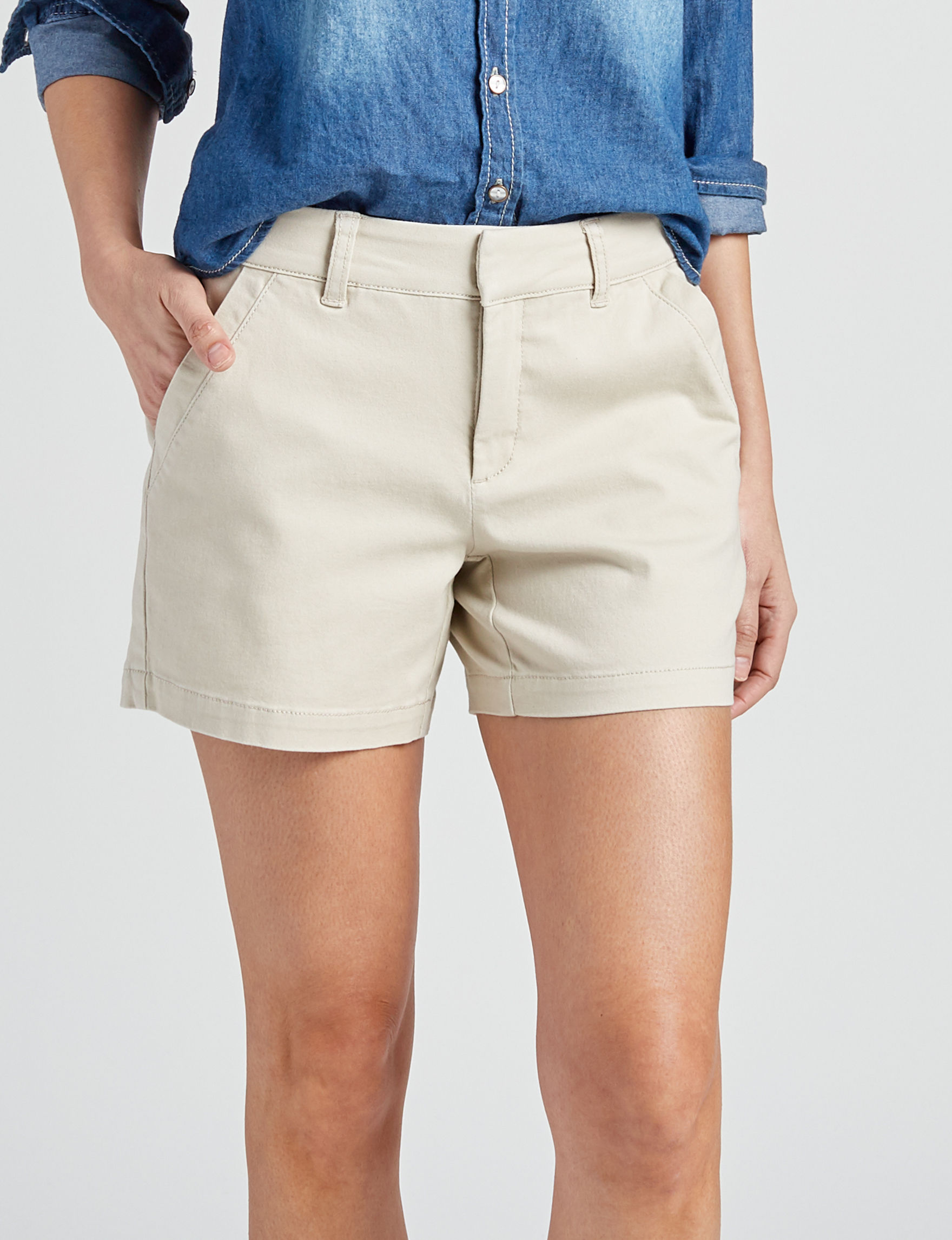 Hannah Beige Tailored Shorts