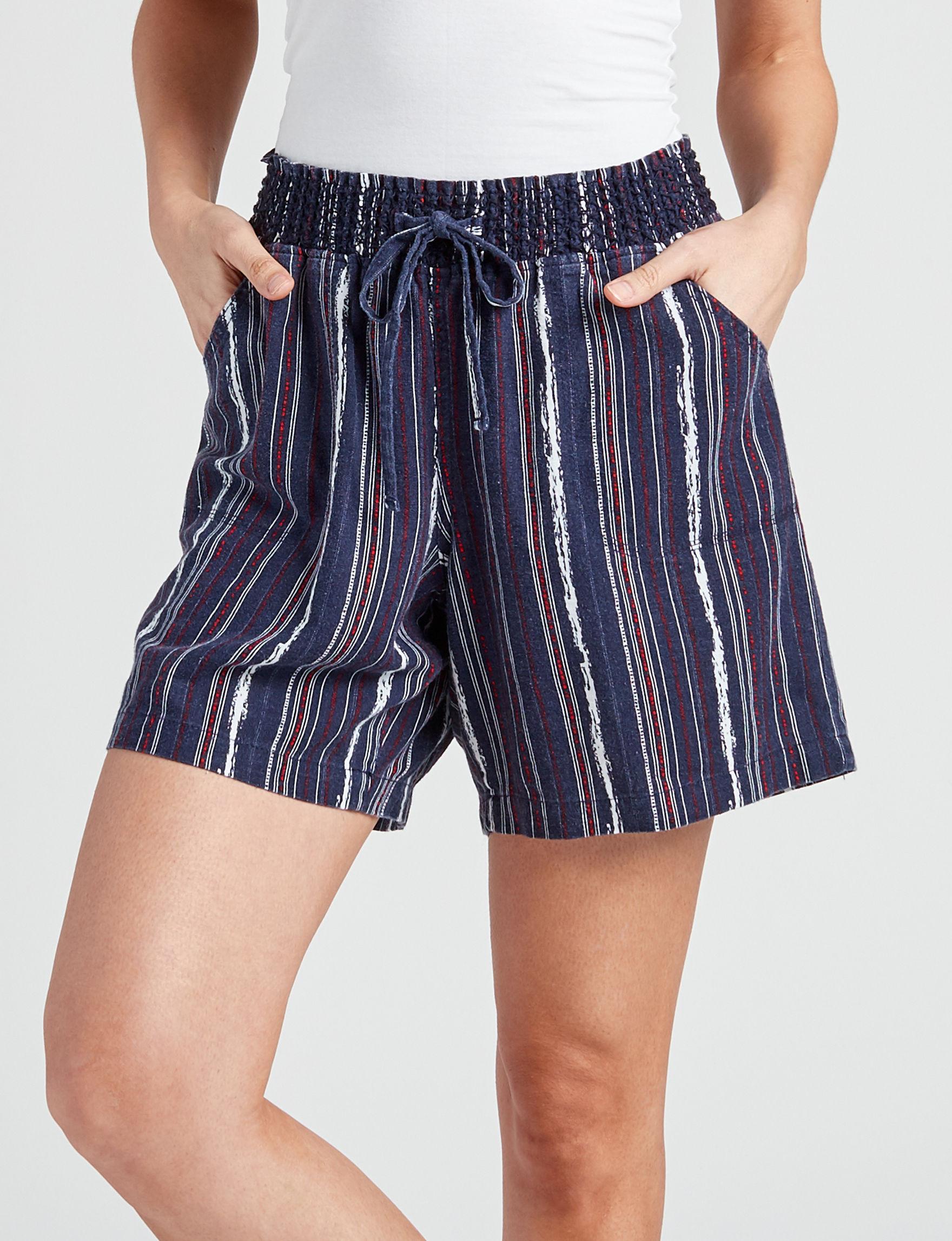 Hannah Blue Multi Soft Shorts
