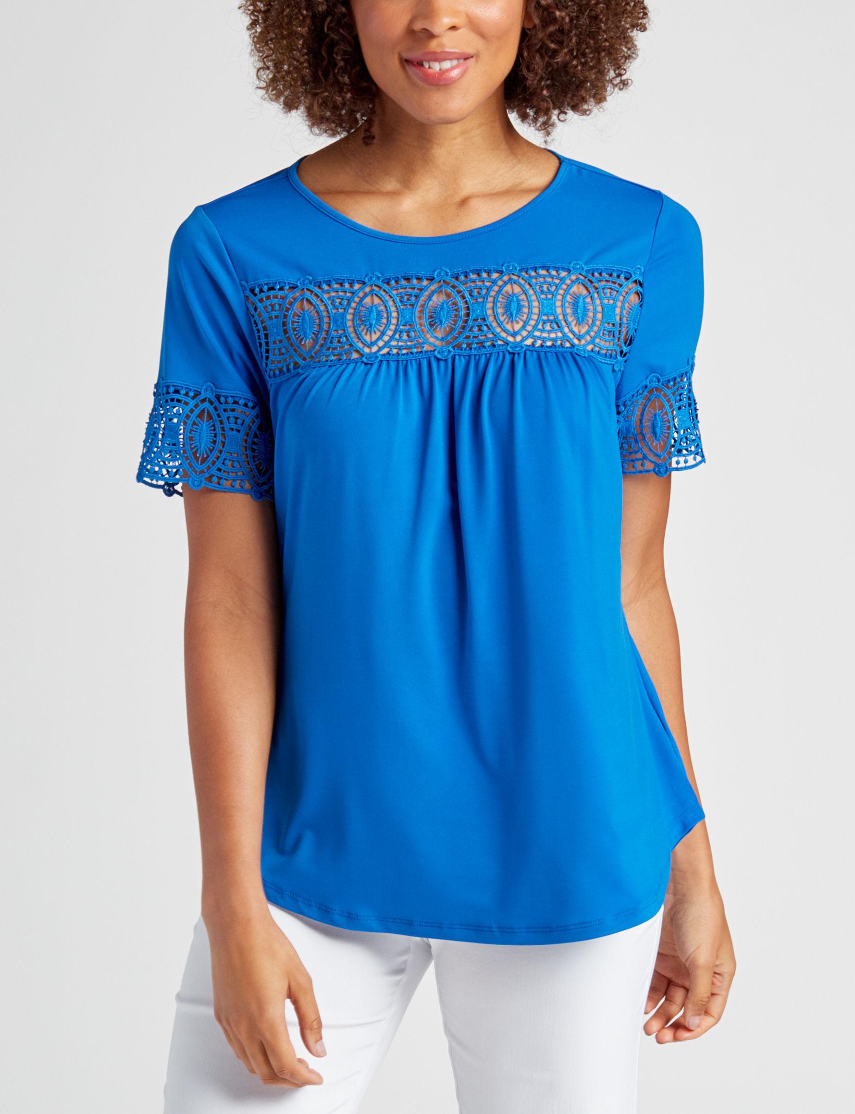 Valerie Stevens Blue Shirts & Blouses