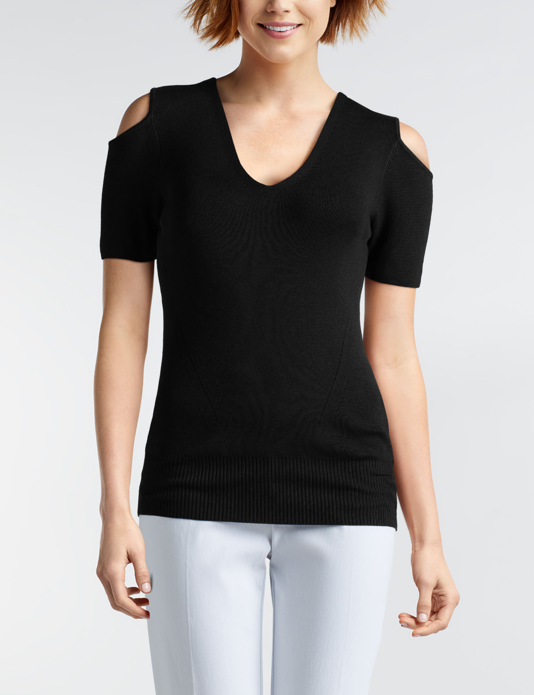 Joseph A Black Shirts & Blouses