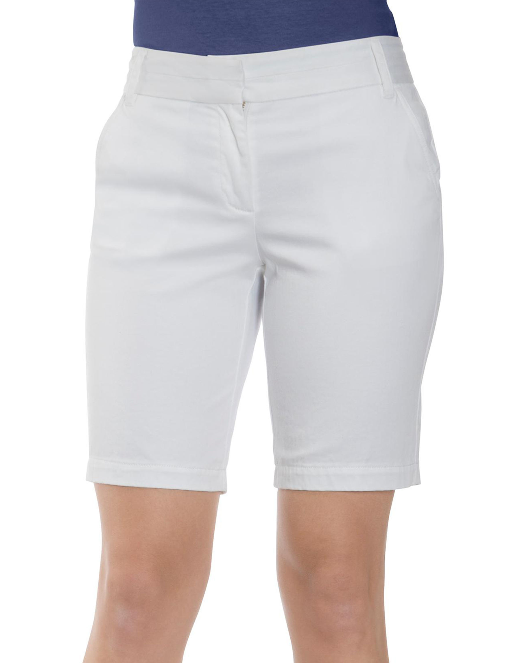 Izod White Denim Shorts