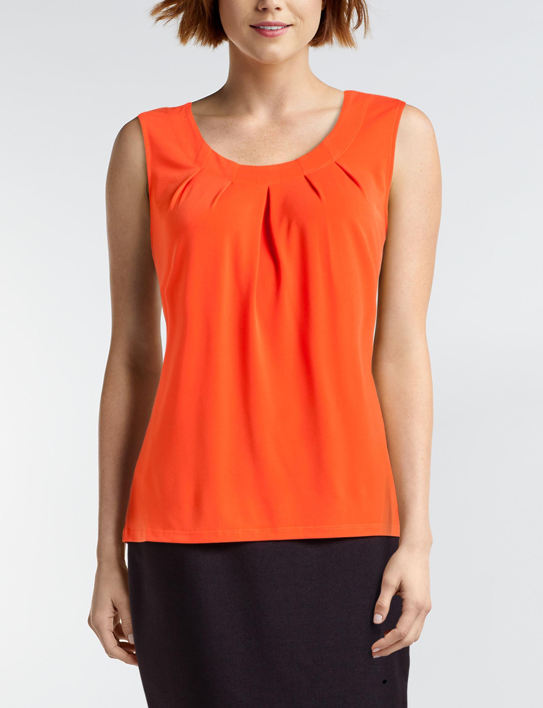 Kasper Orange Shirts & Blouses
