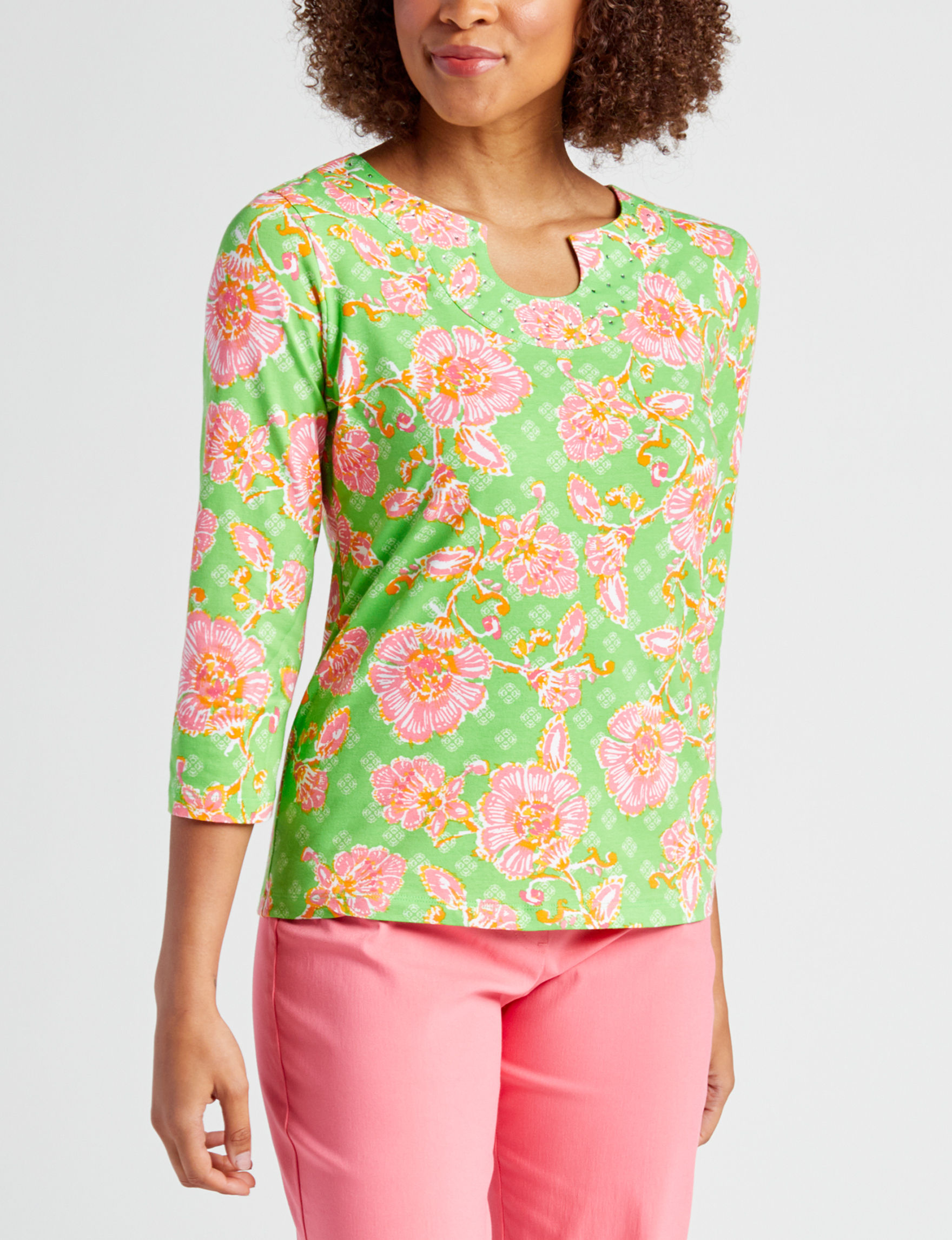 Ruby Road Green / Pink Shirts & Blouses