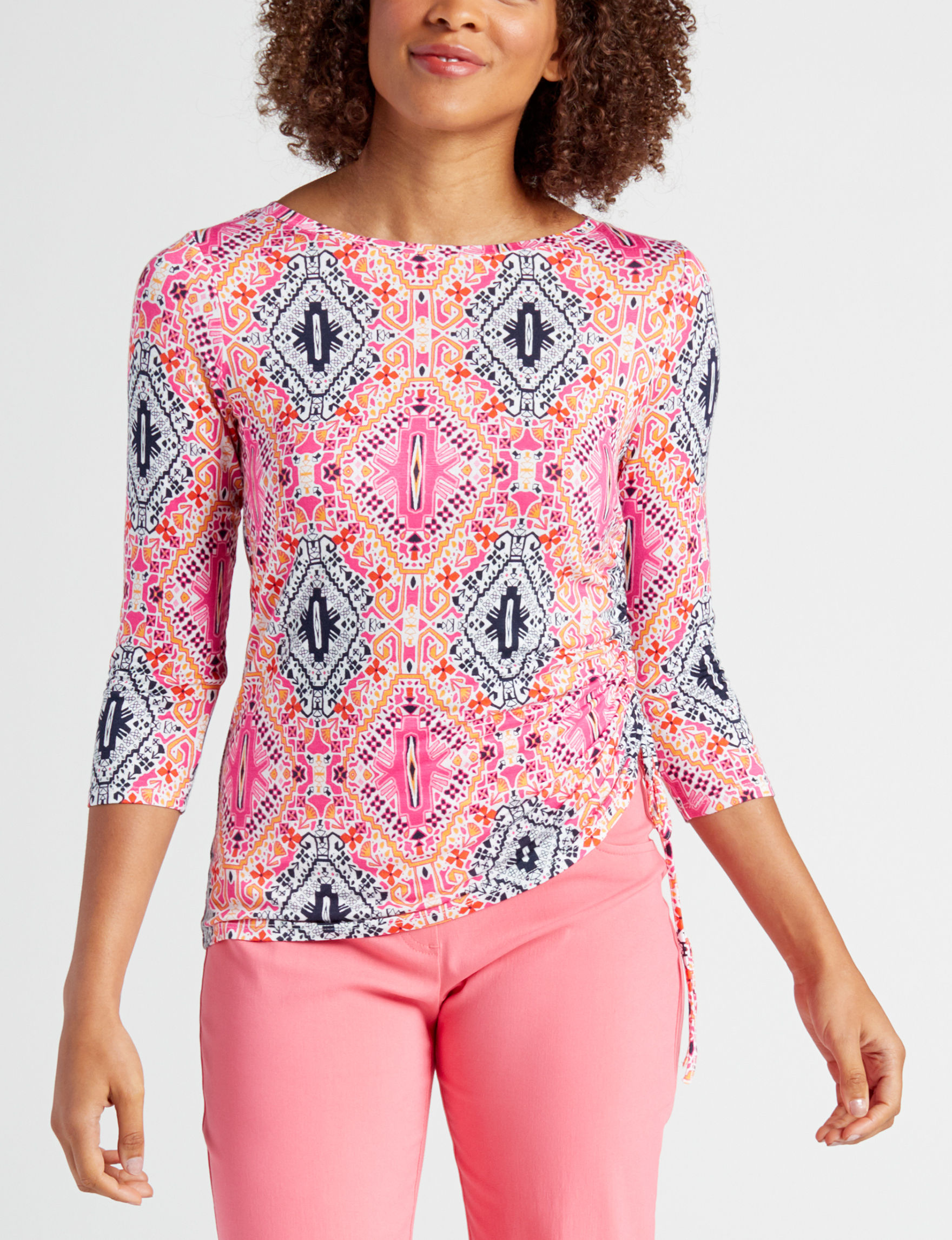 Ruby Road Pink Multi Shirts & Blouses