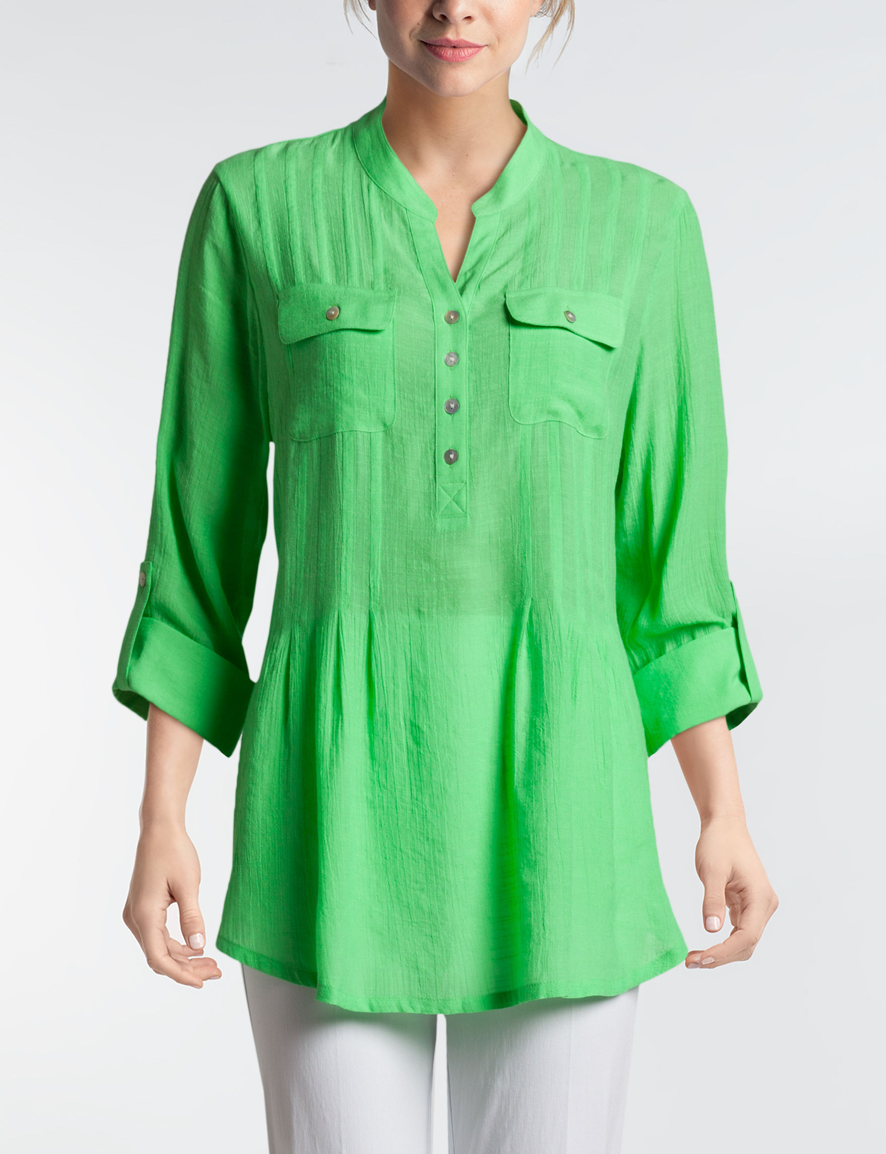 Ruby Road Green Shirts & Blouses