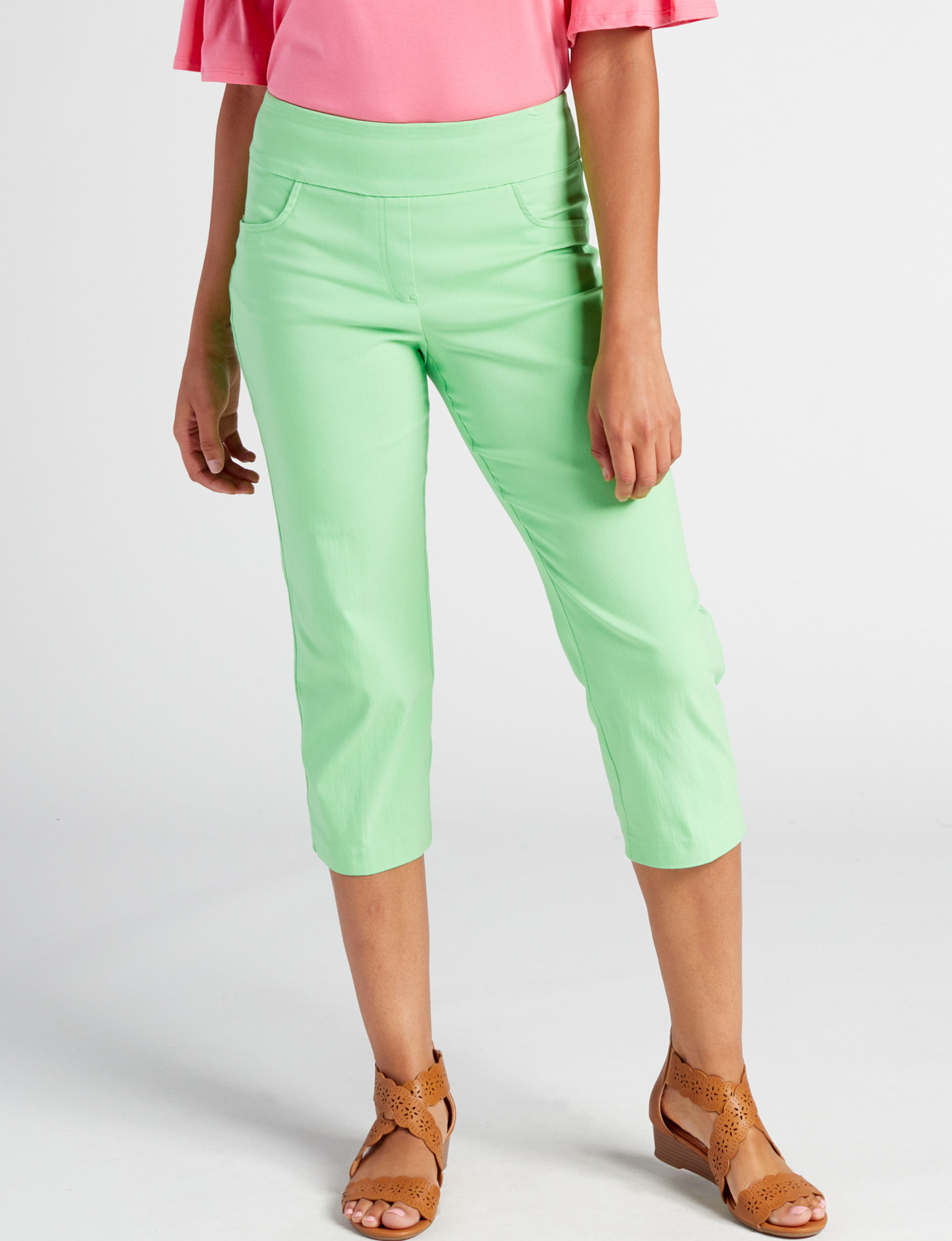Ruby Road Green Capris & Crops Straight Stretch