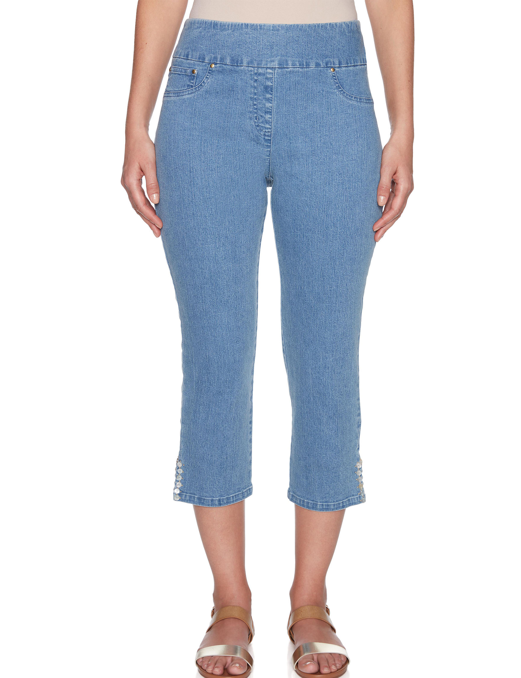 Ruby Road Blue Capris & Crops Straight Stretch