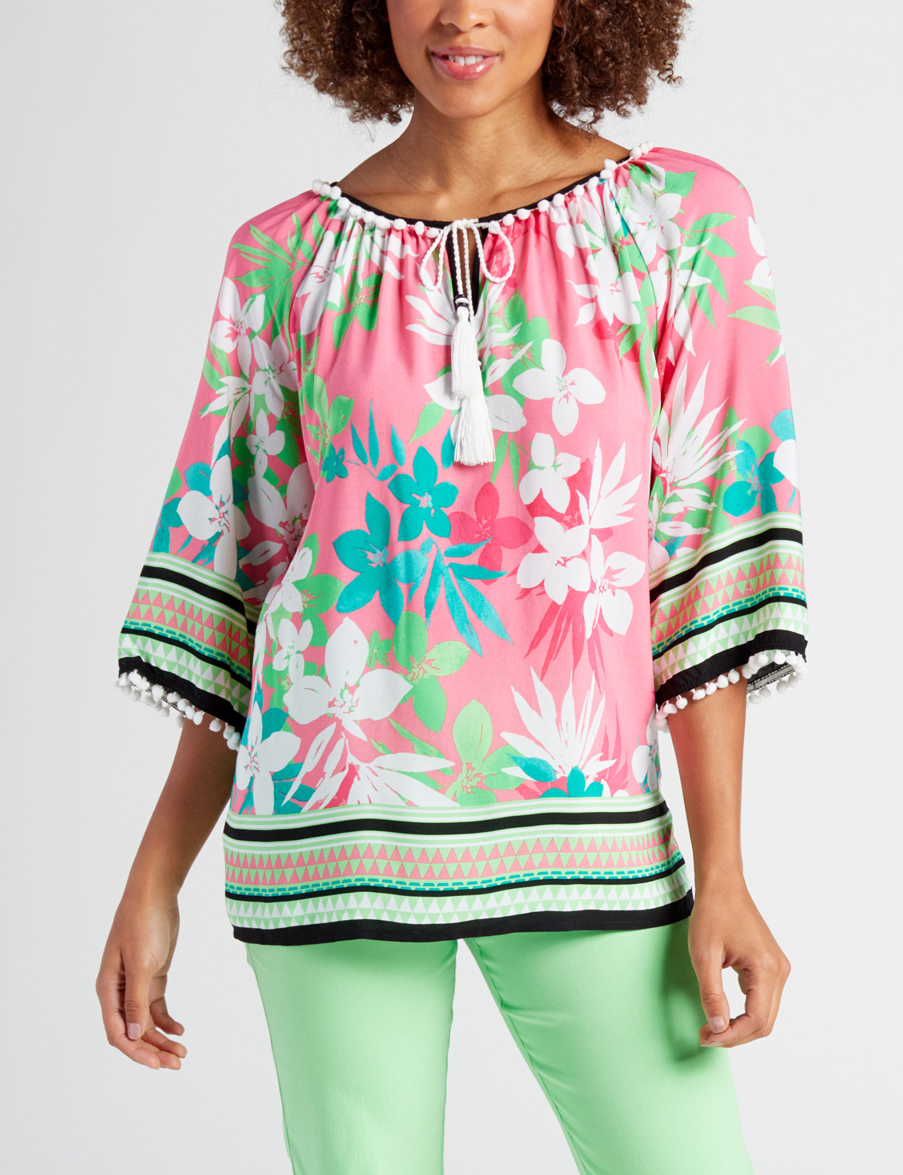 Ruby Road Coral Multi Pull-overs Shirts & Blouses