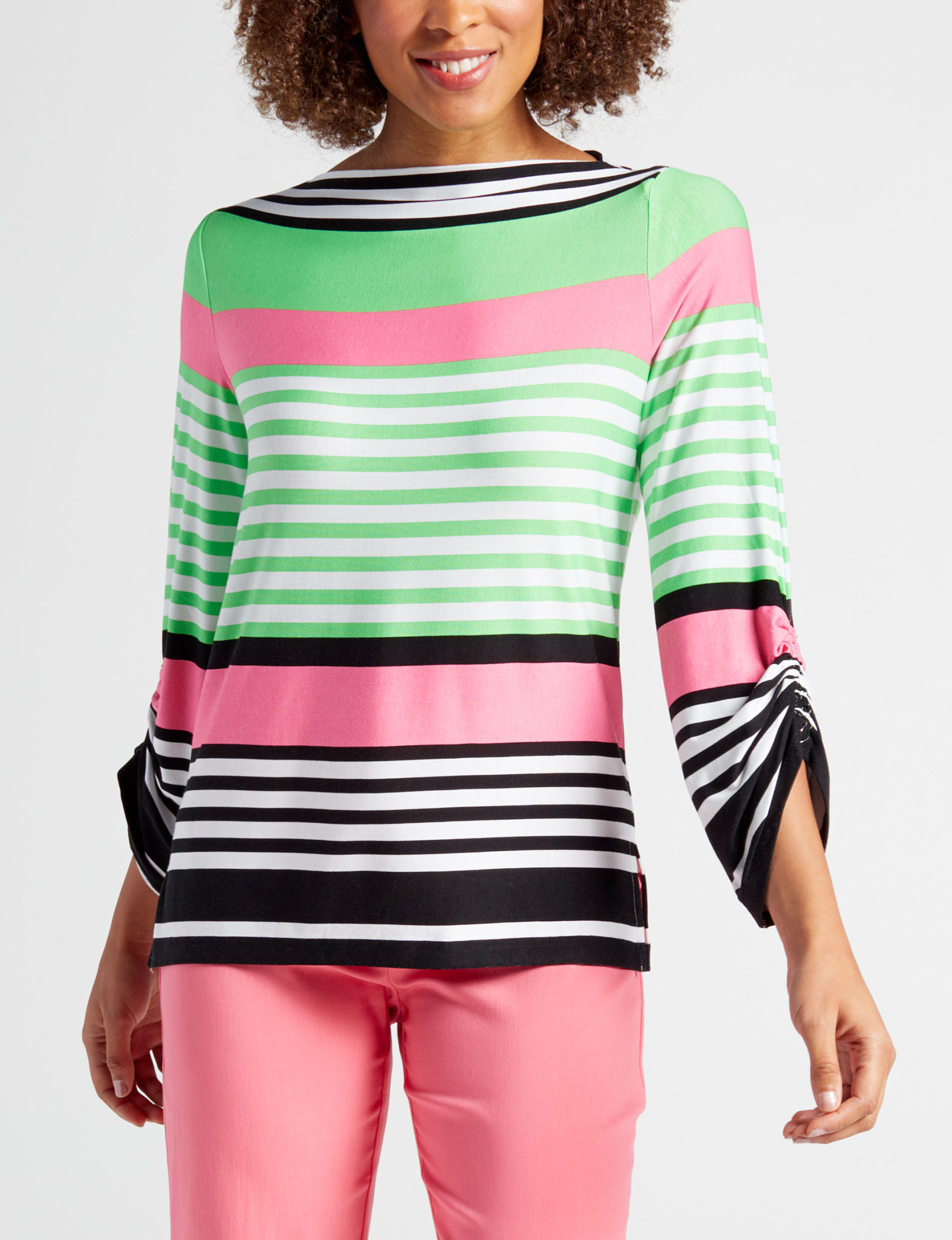 Ruby Road Green / Pink Pull-overs Shirts & Blouses