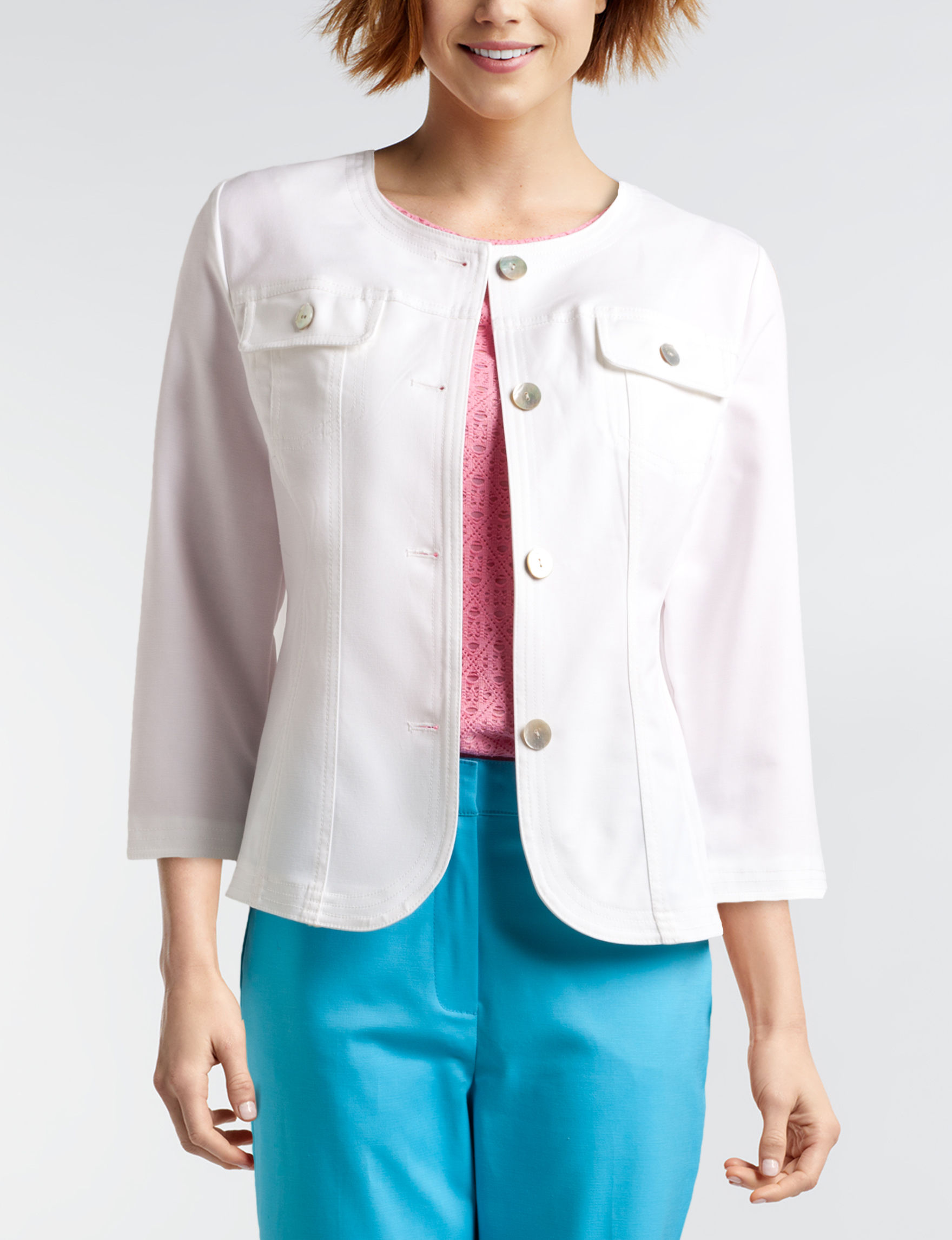 Ruby Road White Lightweight Jackets & Blazers