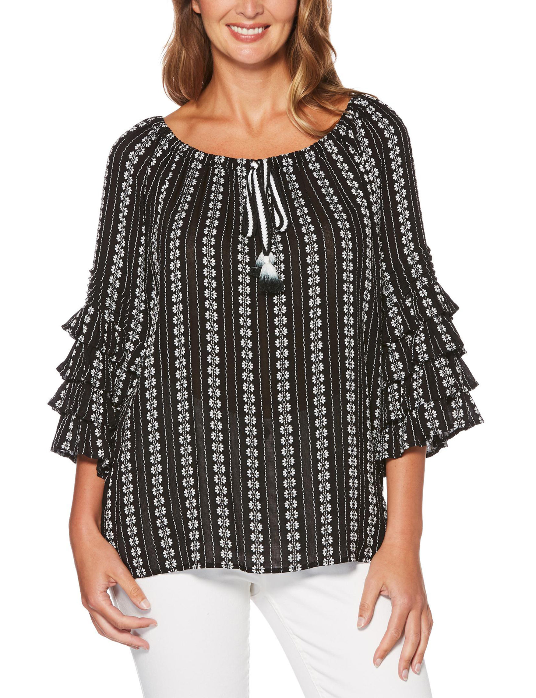 Rafaella Black / White Shirts & Blouses